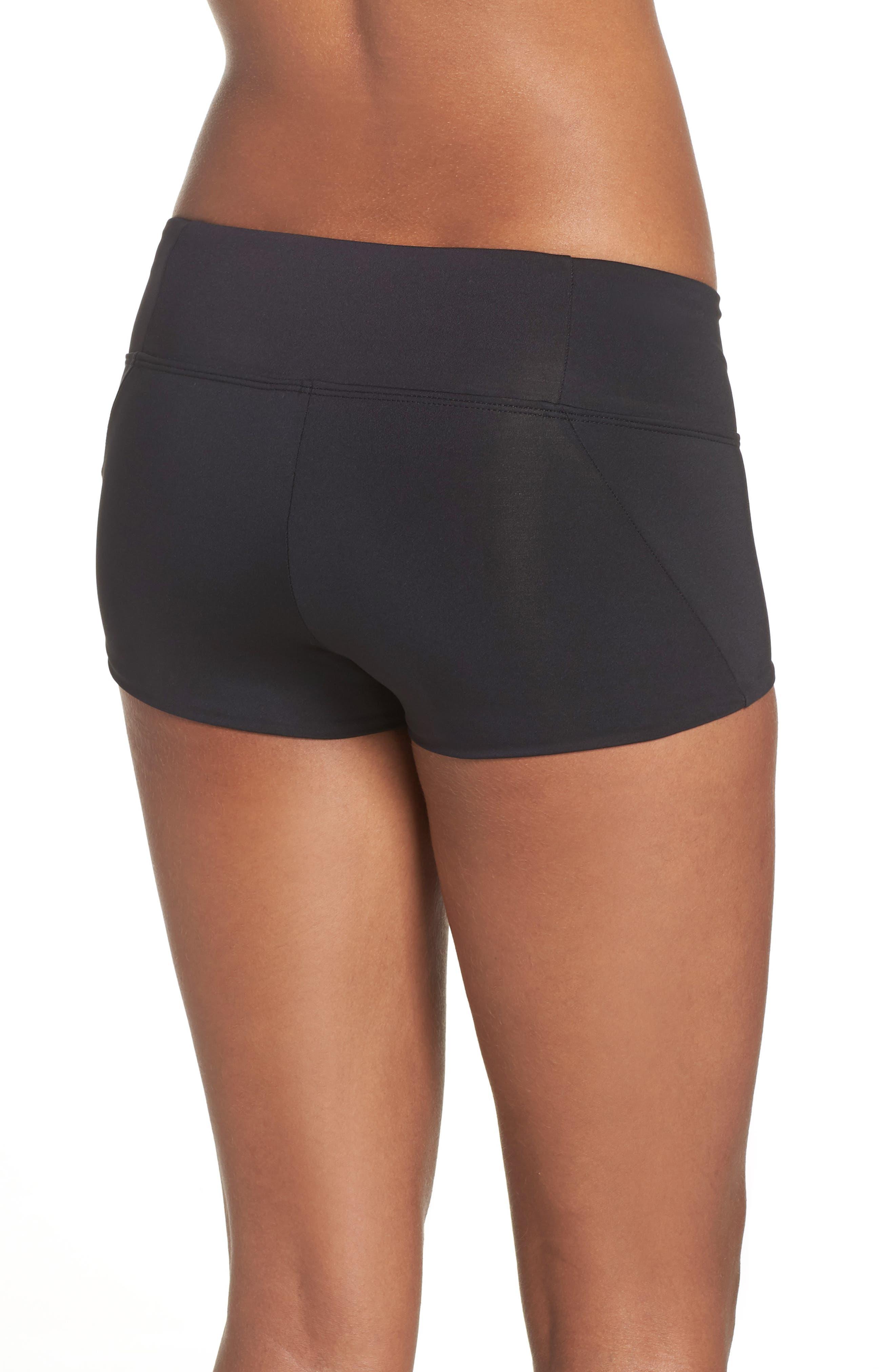 NIKE, Kick Swim Shorts, Alternate thumbnail 2, color, BLACK
