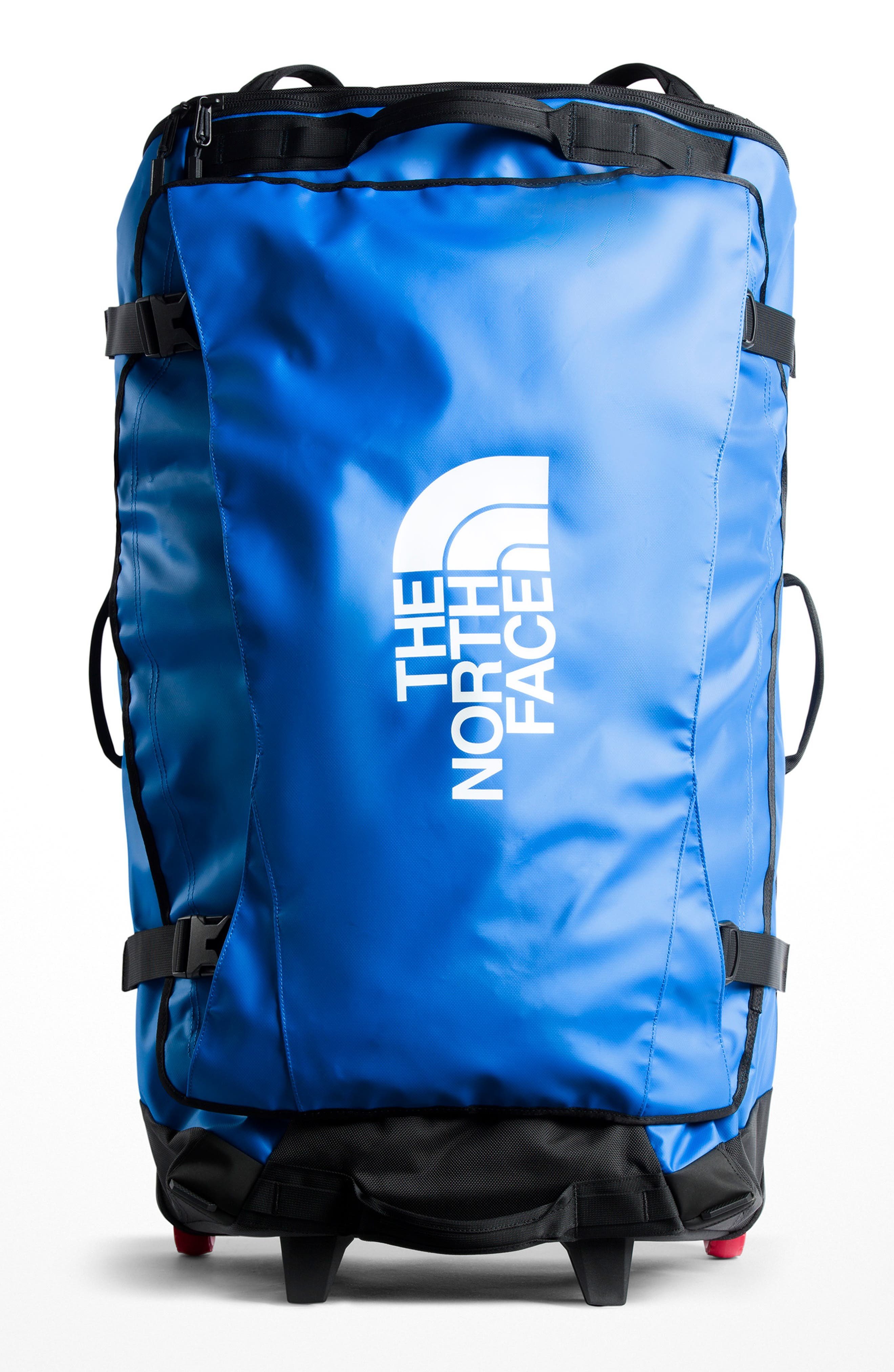 THE NORTH FACE, Rolling Thunder 36-Inch Wheeled Duffel Bag, Main thumbnail 1, color, BOMBER BLUE/ BLACK
