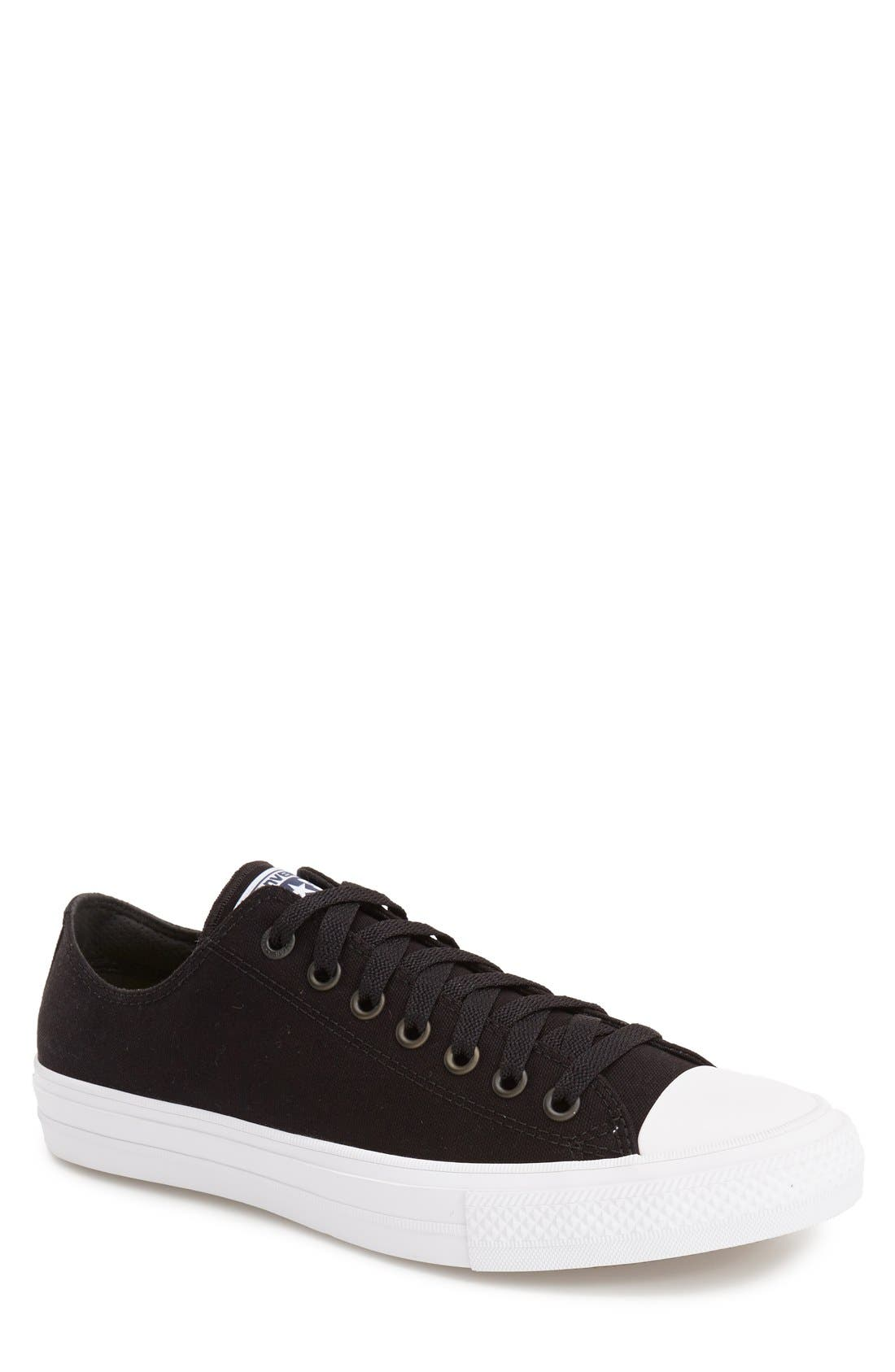 CONVERSE, Chuck Taylor<sup>®</sup> All Star<sup>®</sup> II 'Ox' Canvas Sneaker, Main thumbnail 1, color, 001