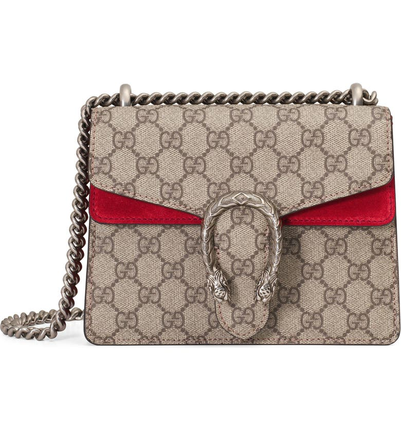 b65434fee6f Gucci Mini Dionysus GG Supreme Shoulder Bag