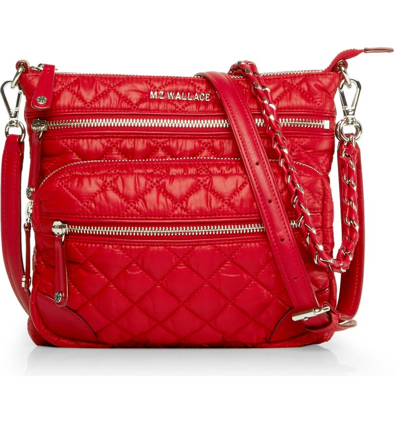 Mz Wallace  M Z WALLACE DOWNTOWN CROSBY CROSSBODY BAG - RED