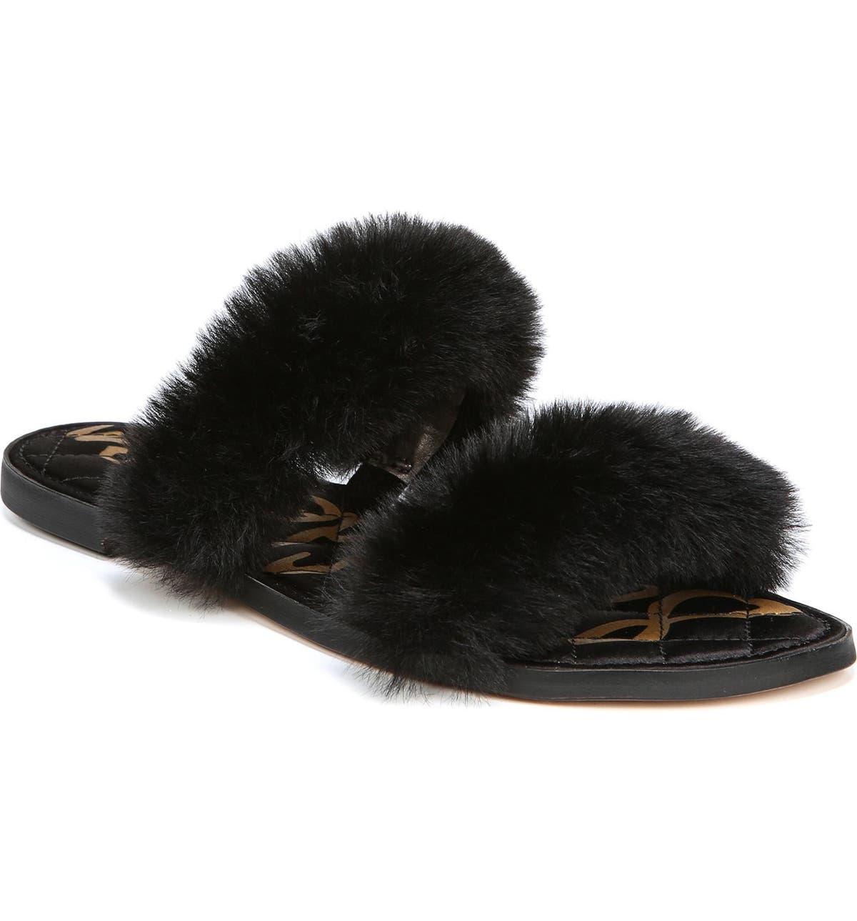 65a35a876d65 Sam Edelman Griselda Faux Fur Slide Sandal (Women)