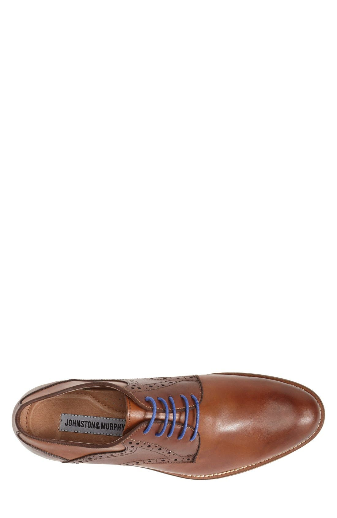 JOHNSTON & MURPHY, Conard Saddle Shoe, Alternate thumbnail 3, color, TAN/ DARK BROWN