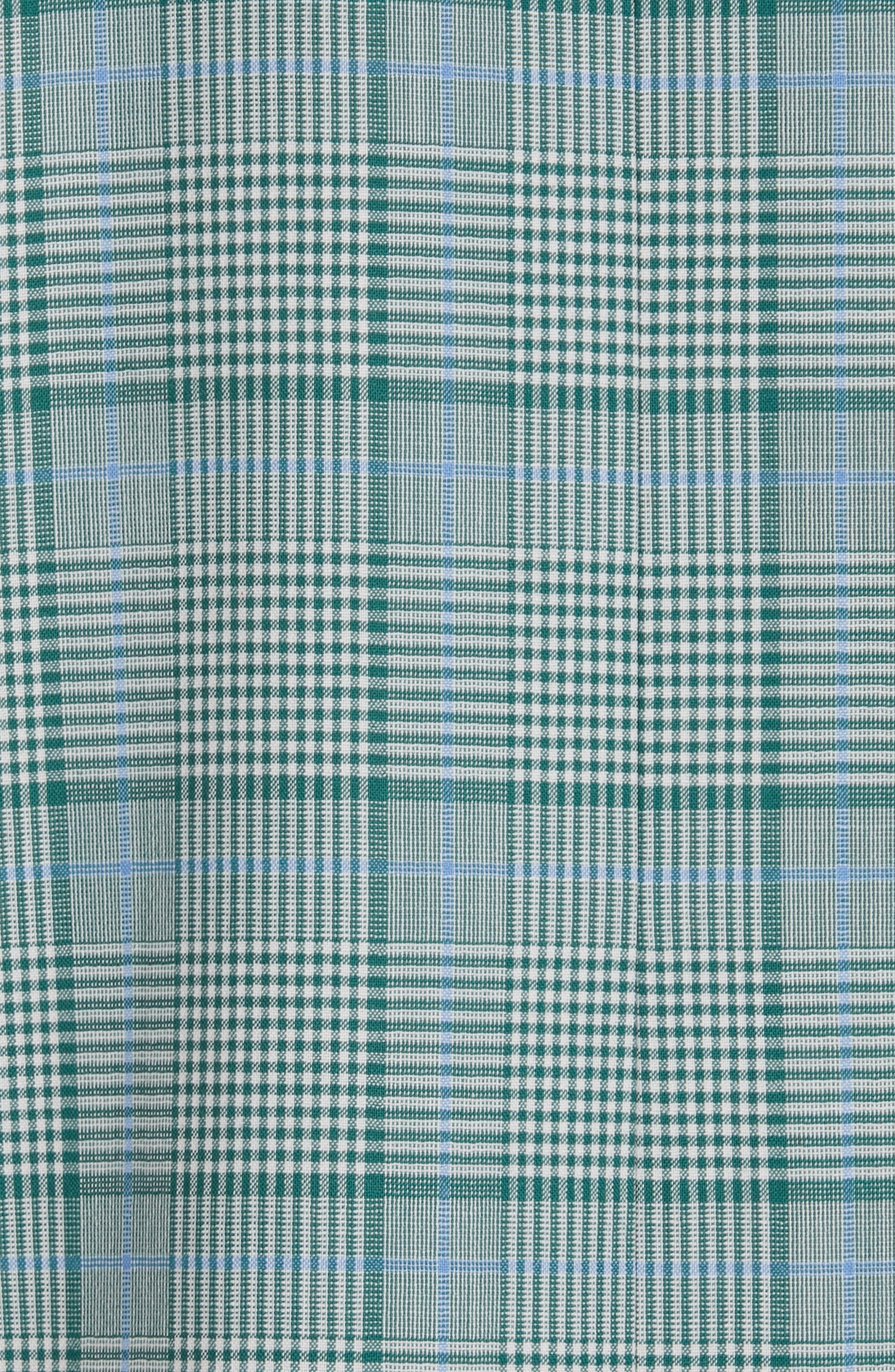 LEWIT, Check Coat, Alternate thumbnail 7, color, 310
