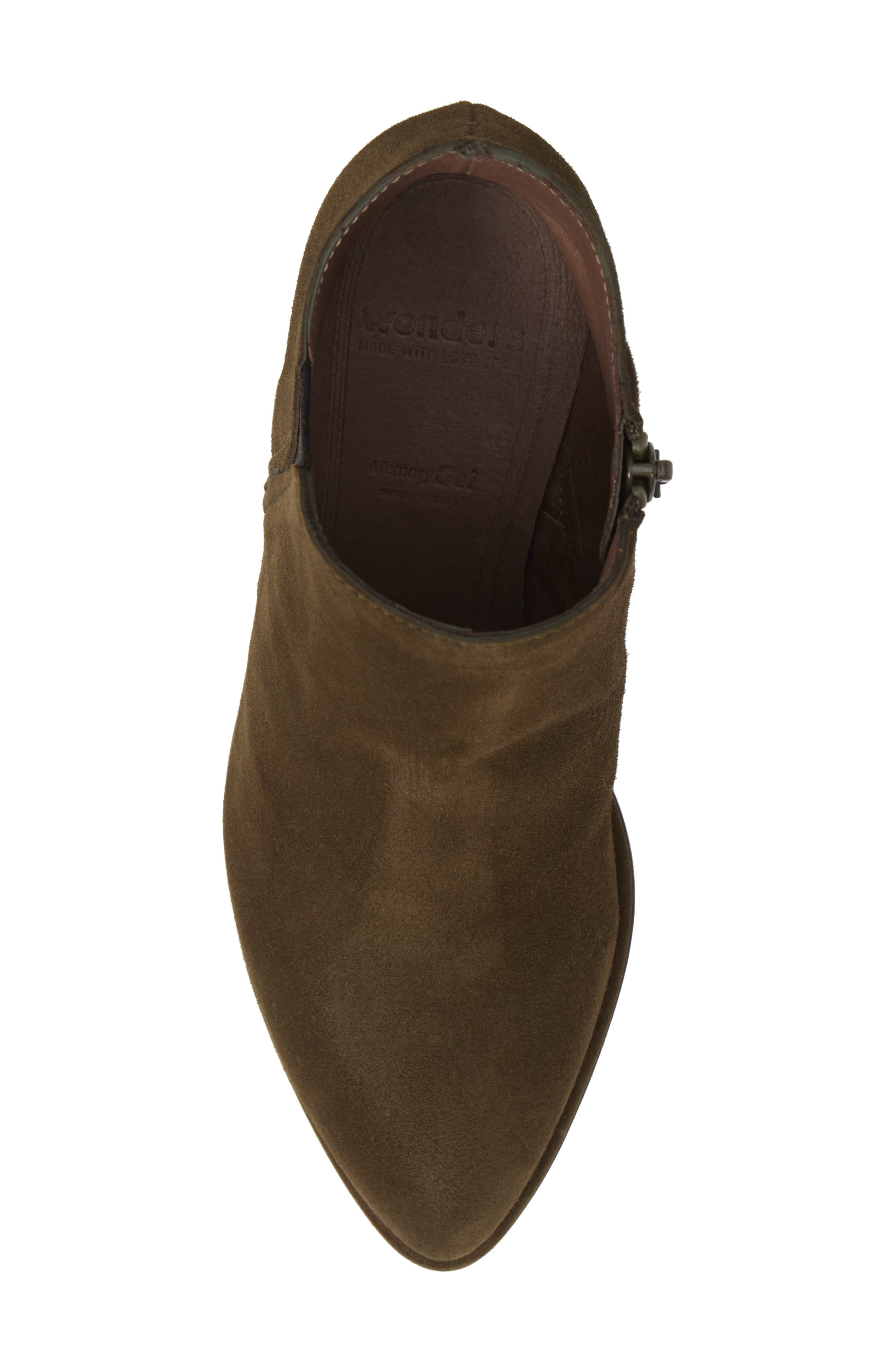 WONDERS, Chelsea Boot, Alternate thumbnail 5, color, MILITARY GREEN SUEDE