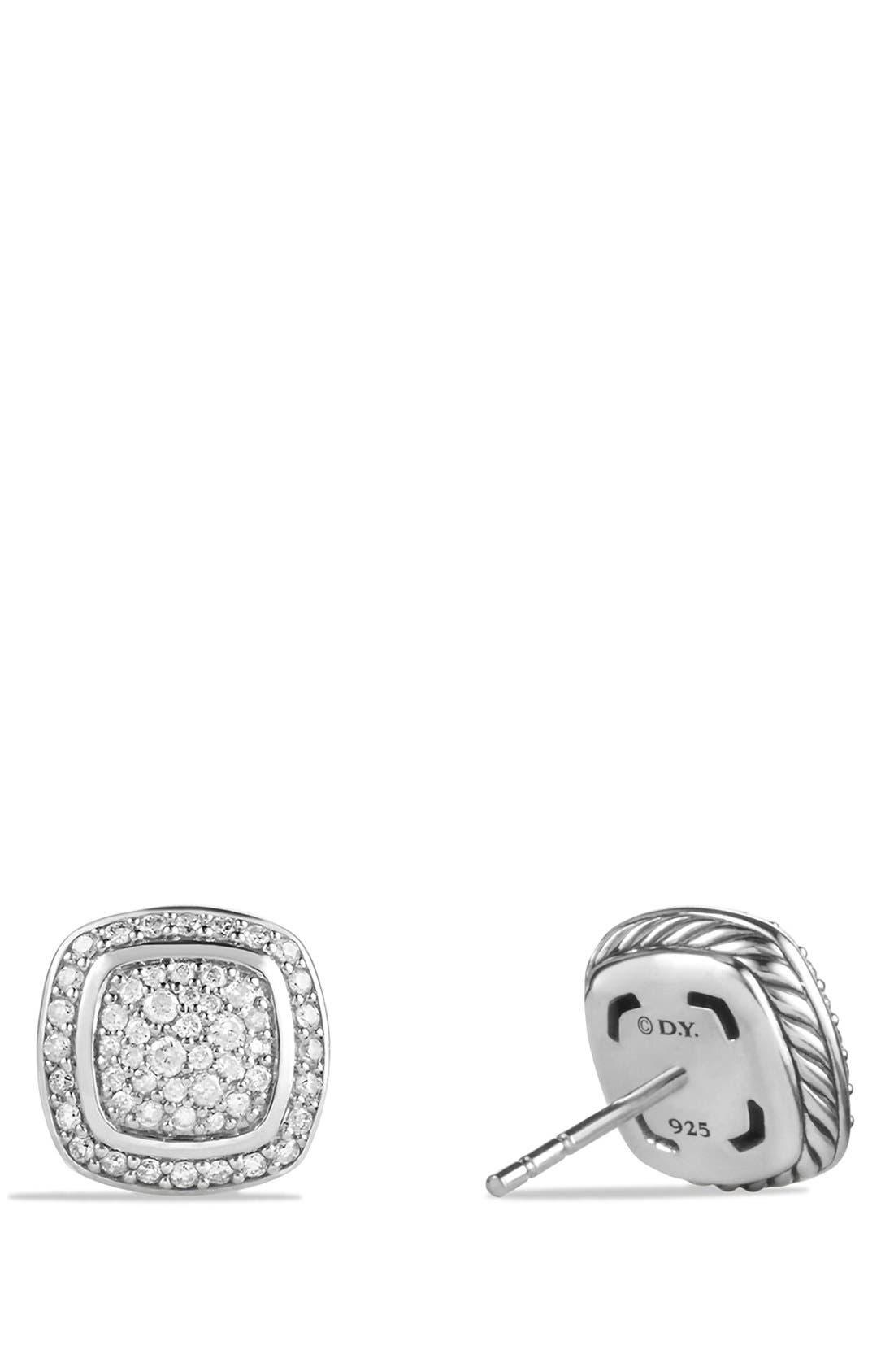 DAVID YURMAN, 'Albion' Earrings with Diamonds, Alternate thumbnail 3, color, DIAMOND
