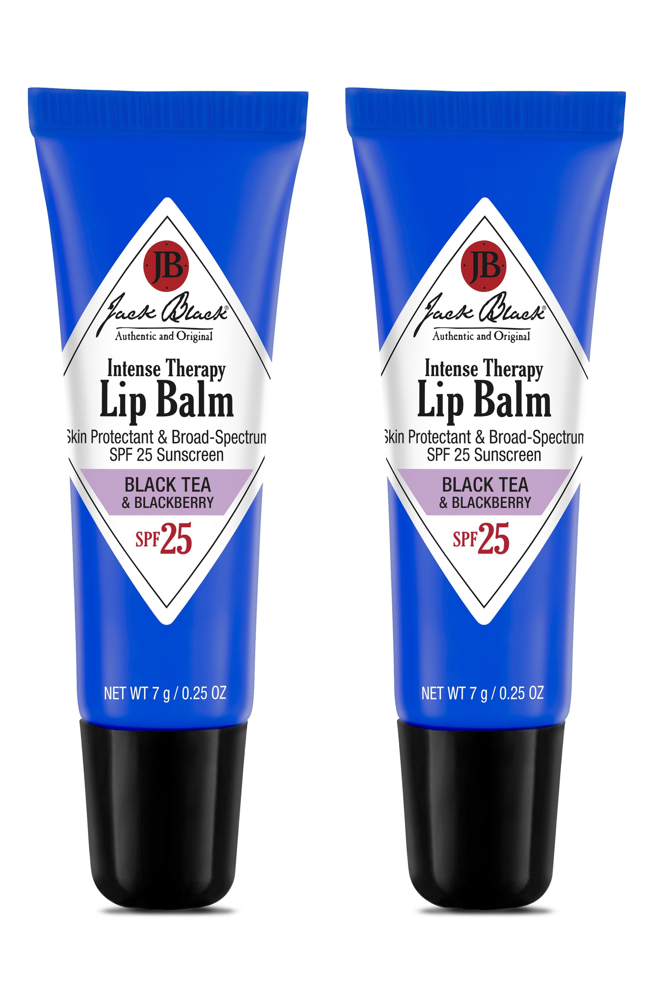 JACK BLACK, Intense Therapy Lip Balm SPF 25 Duo, Alternate thumbnail 2, color, BLACK TEA BLACKBERRY