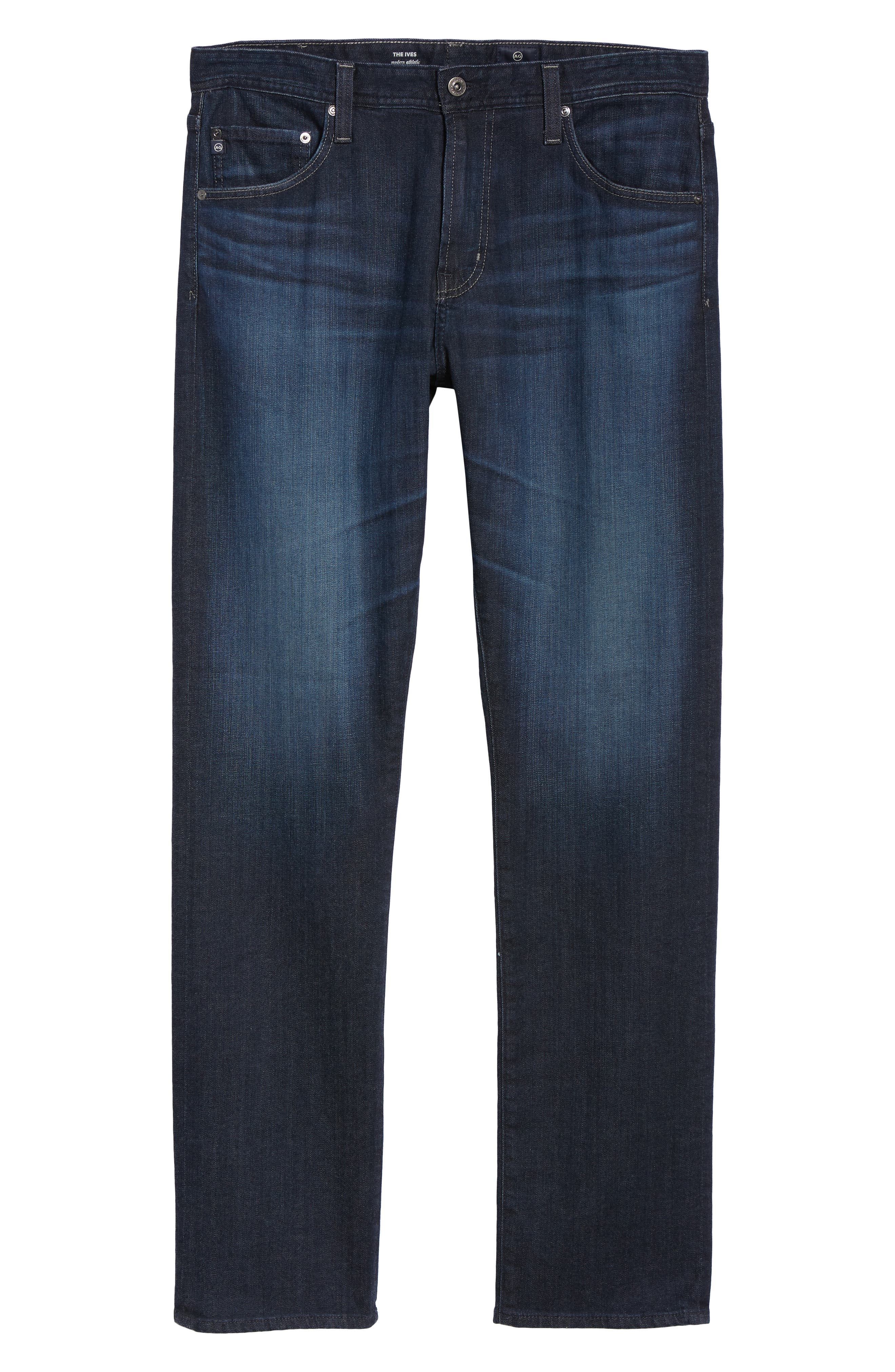 AG, Ives Straight Fit Jeans, Alternate thumbnail 7, color, PATTERSON