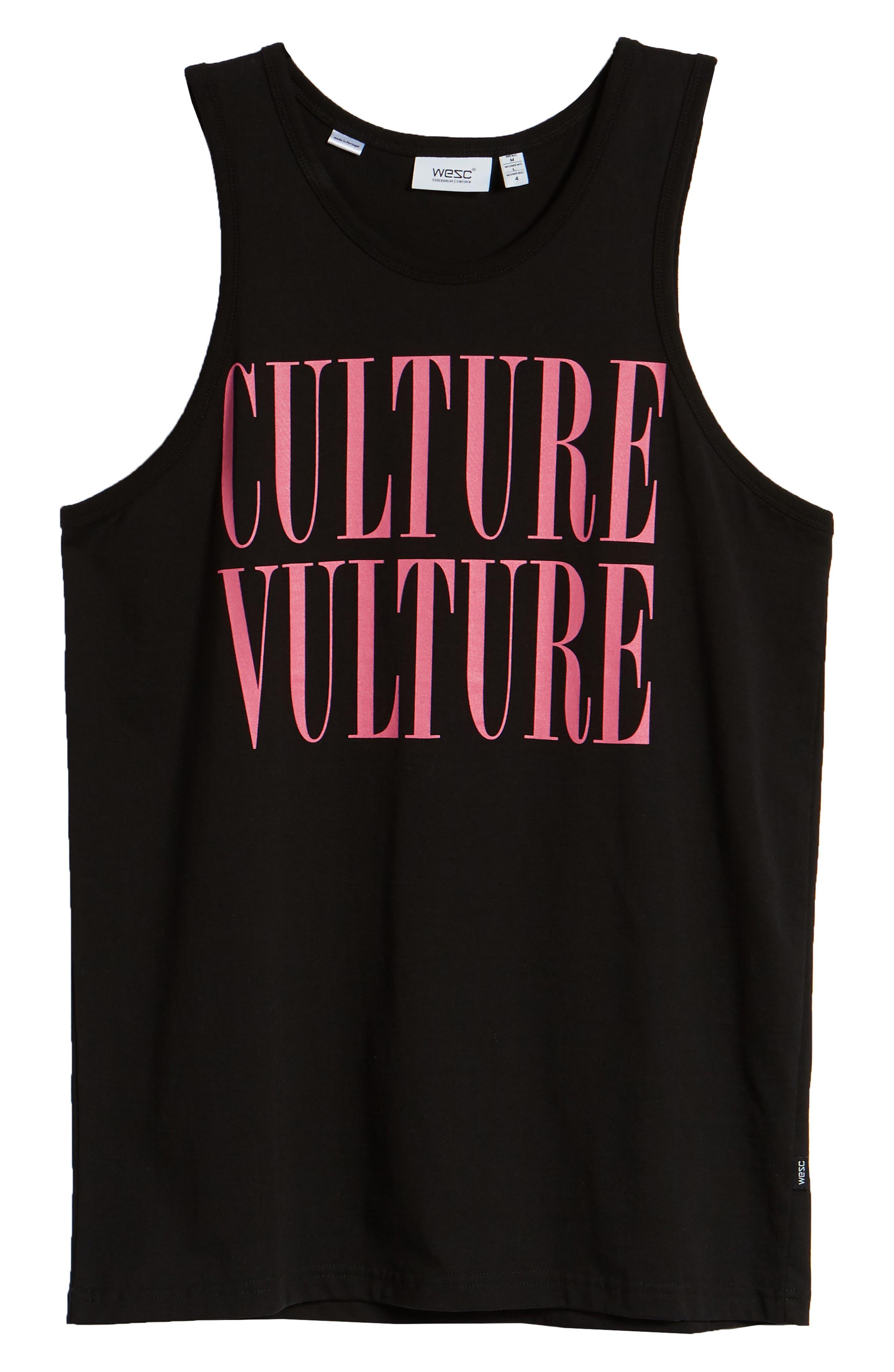 WESC, Culture Vulture Tank, Alternate thumbnail 6, color, BLACK