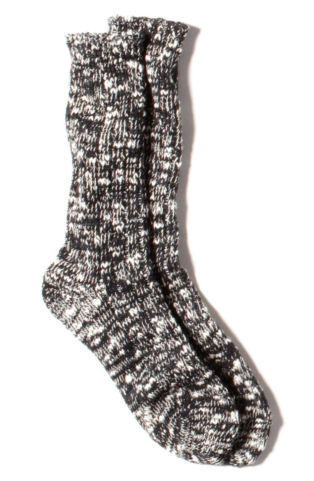 ANONYMOUS ISM, Ragg Knit Socks, Alternate thumbnail 3, color, 001