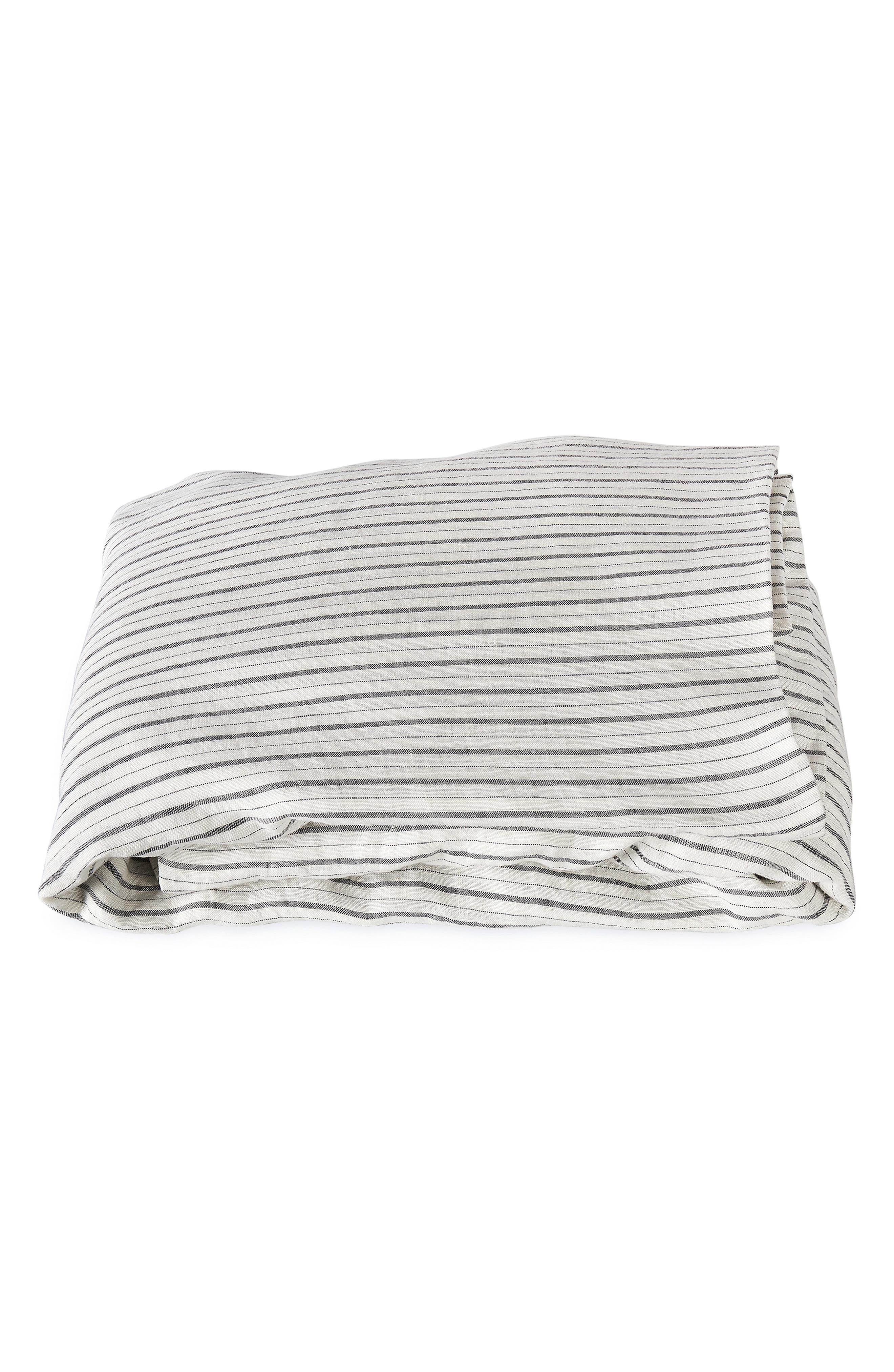 Matouk Tristen Linen Fitted Sheet Size California King  White