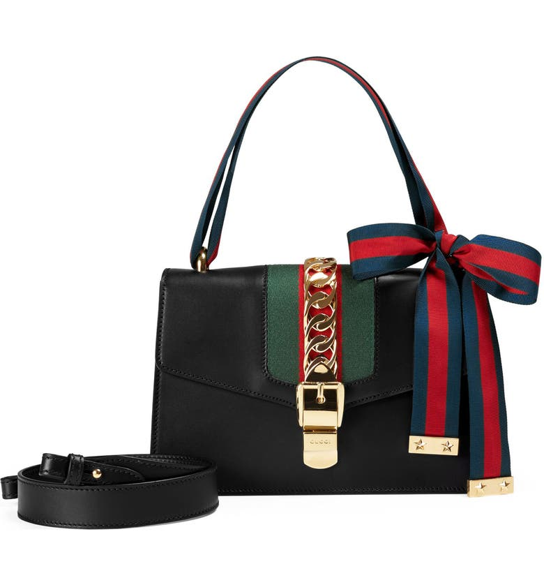 aa61b5a9690 Gucci Small Sylvie Leather Shoulder Bag