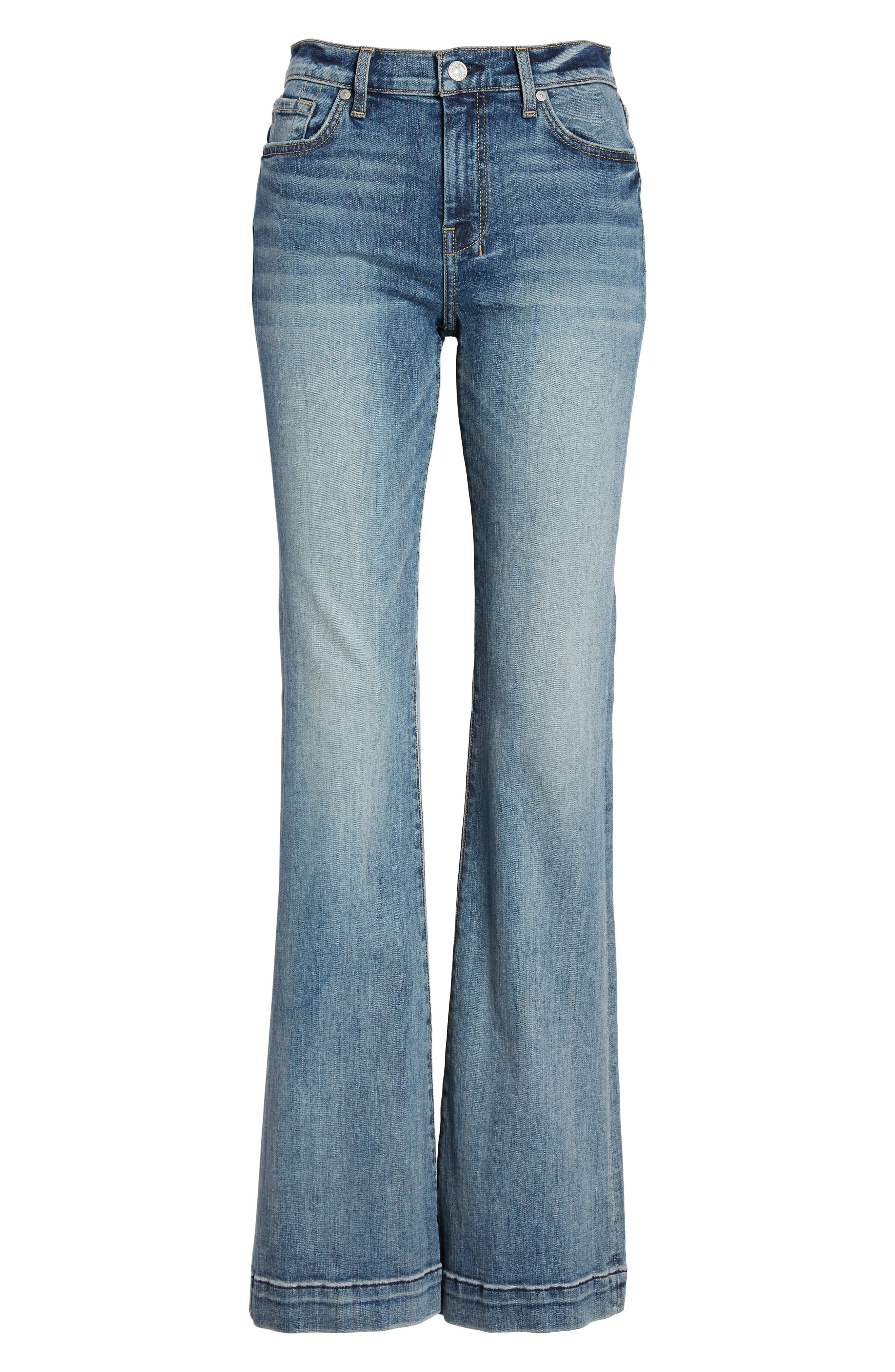 7 FOR ALL MANKIND<SUP>®</SUP>, Dojo Wide Leg Jeans, Alternate thumbnail 7, color, BAIR AUTHENTIC FORTUNE