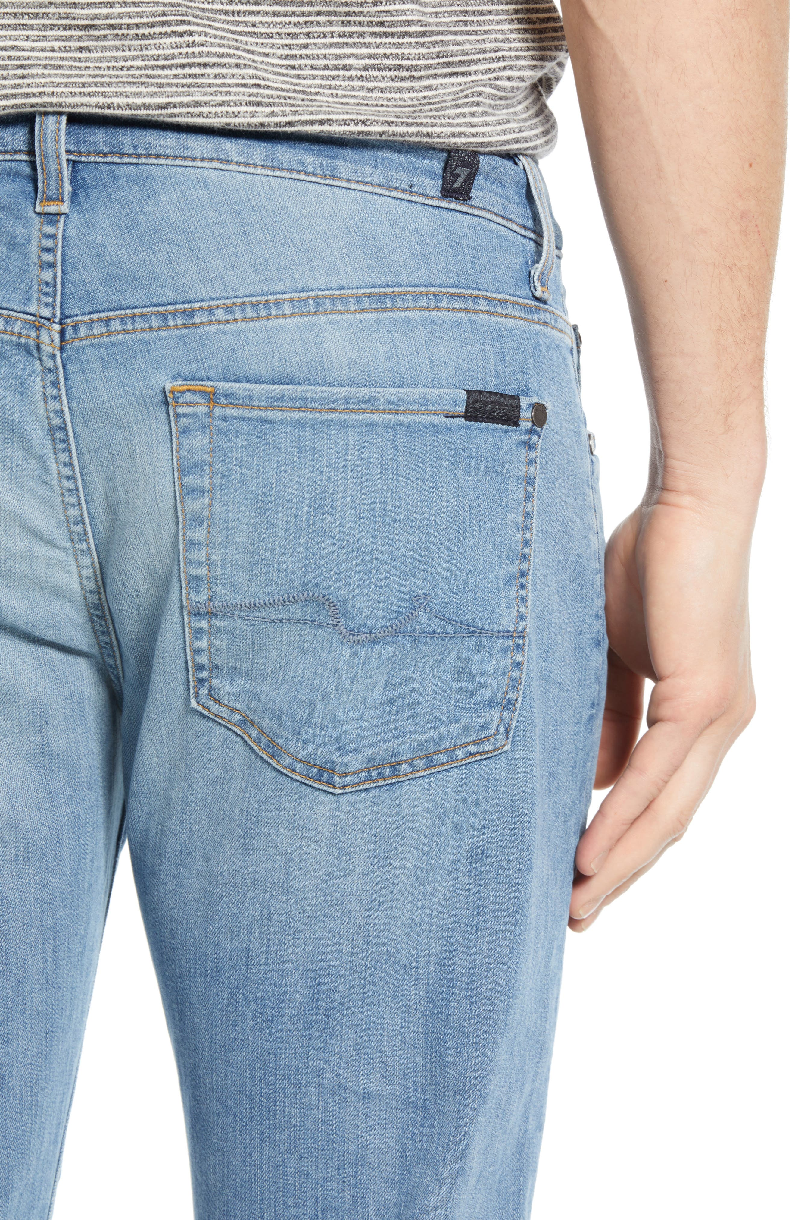 7 FOR ALL MANKIND<SUP>®</SUP>, Slim Straight Leg Jeans, Alternate thumbnail 4, color, INTREPID