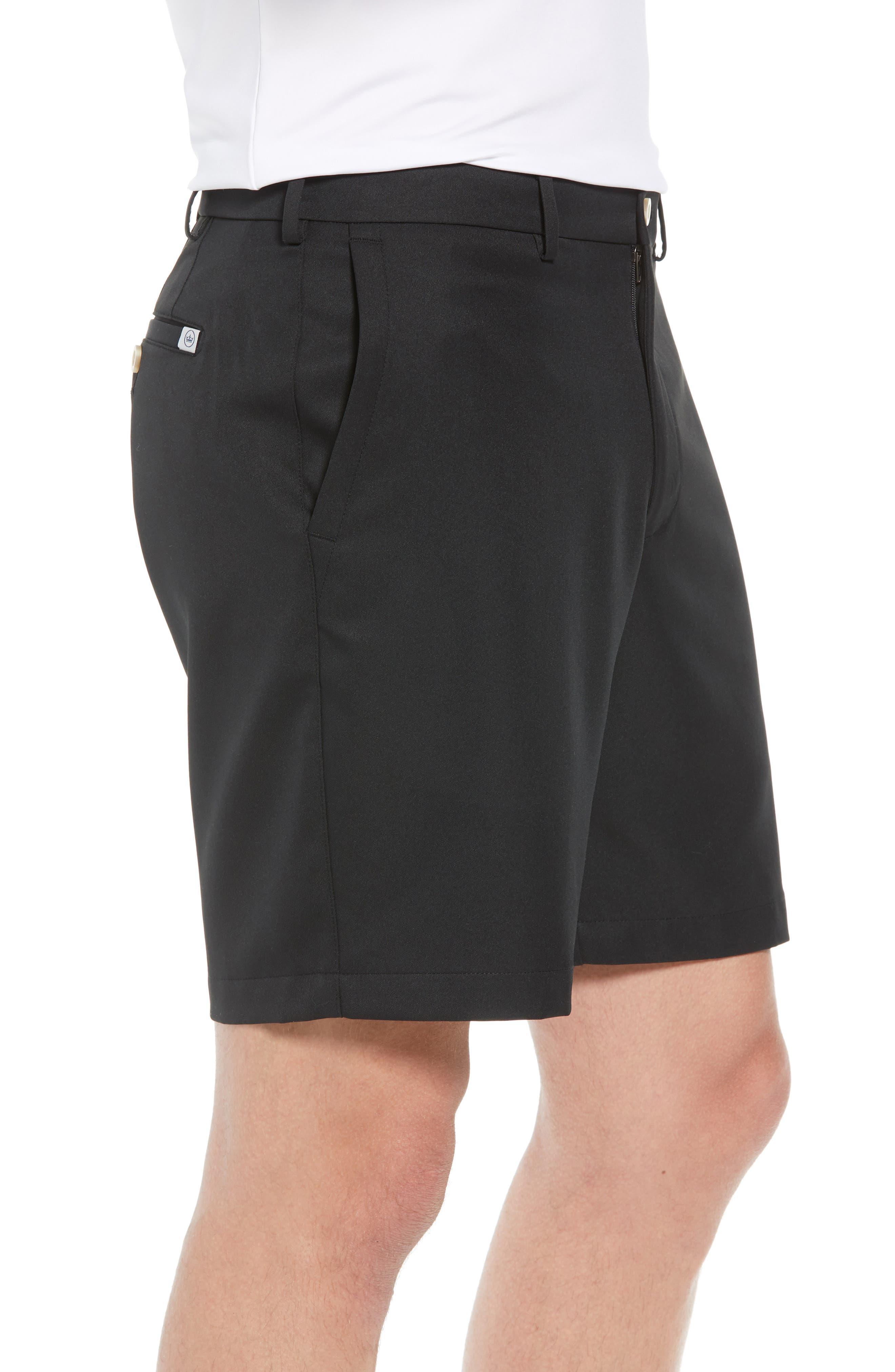 PETER MILLAR, Salem High Drape Performance Shorts, Alternate thumbnail 3, color, BLACK