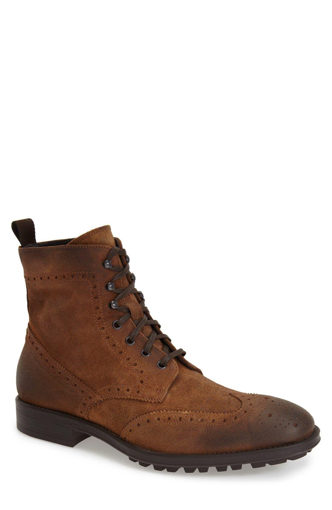 TO BOOT NEW YORK 'Braeden Mid' Wingtip Boot, Main, color, 231