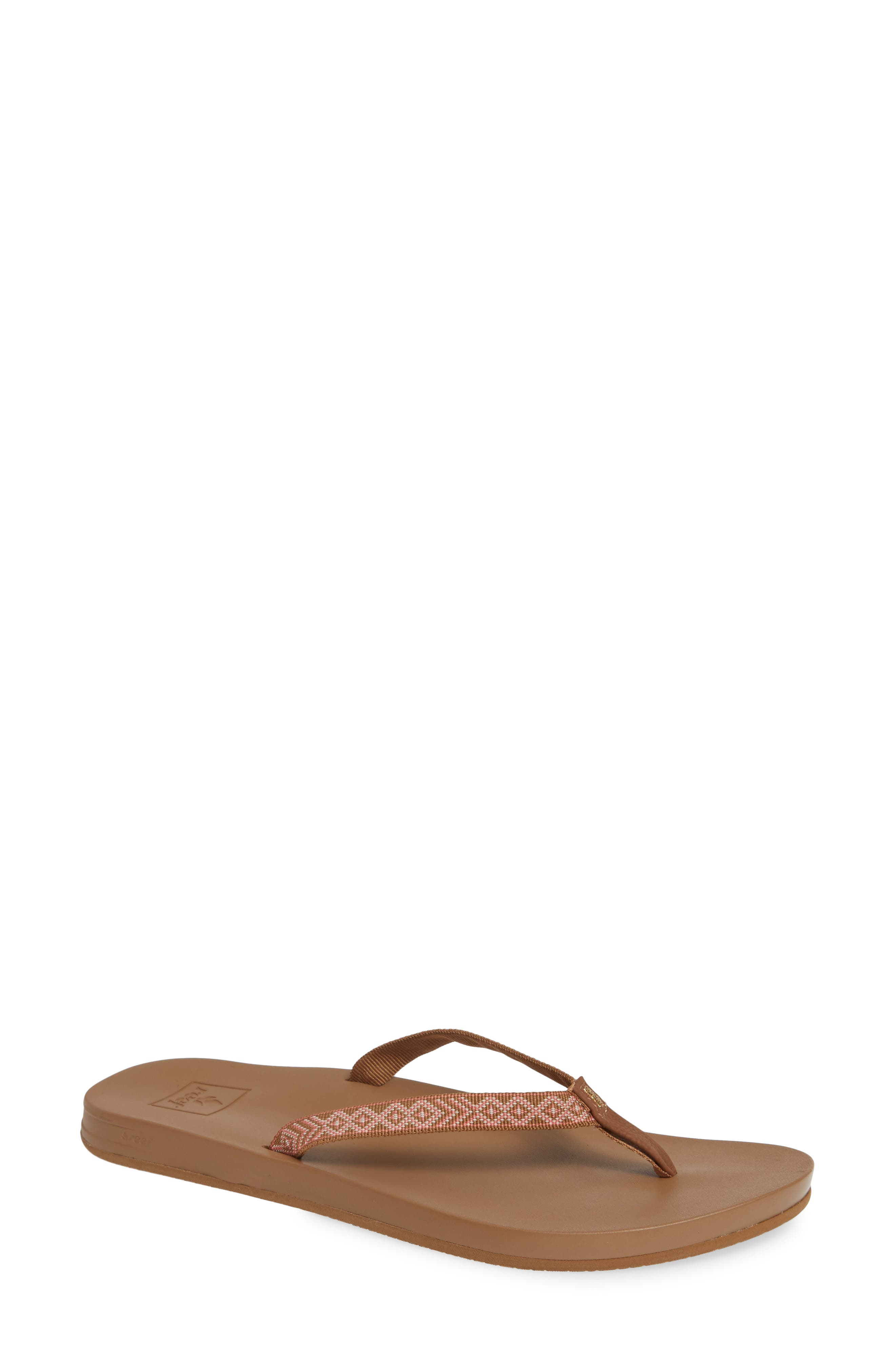 REEF, Cushion Bounce Flip Flop, Main thumbnail 1, color, NATURAL
