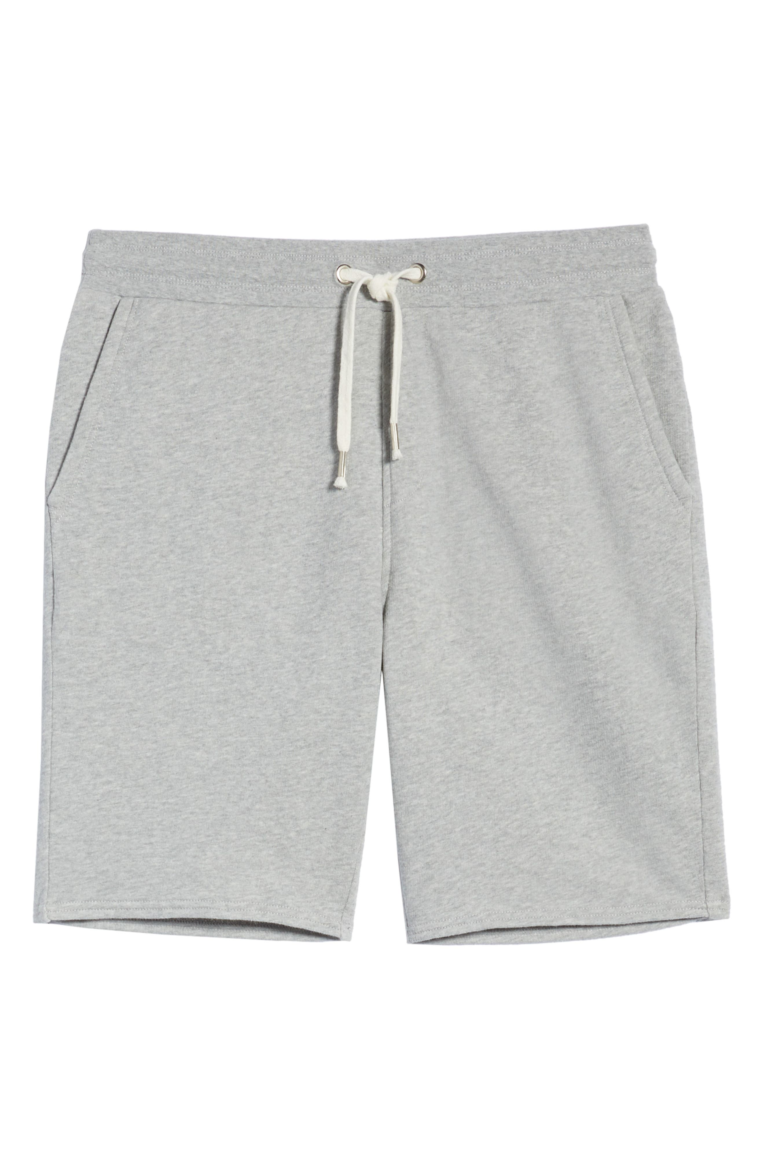 THE RAIL, Heathered Athletic Shorts, Alternate thumbnail 6, color, 050