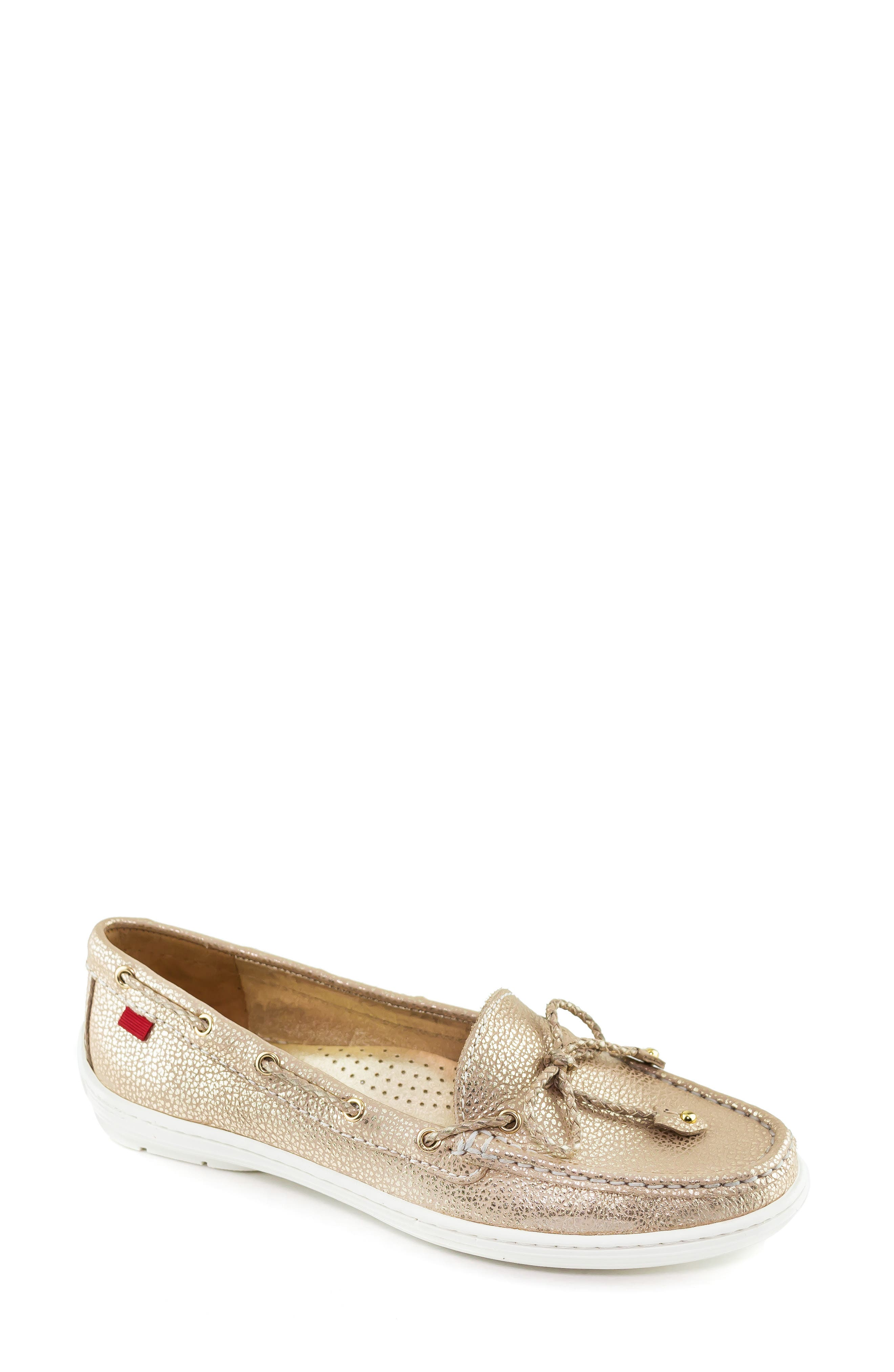 MARC JOSEPH NEW YORK, Pacific Loafer, Main thumbnail 1, color, GOLD LEATHER