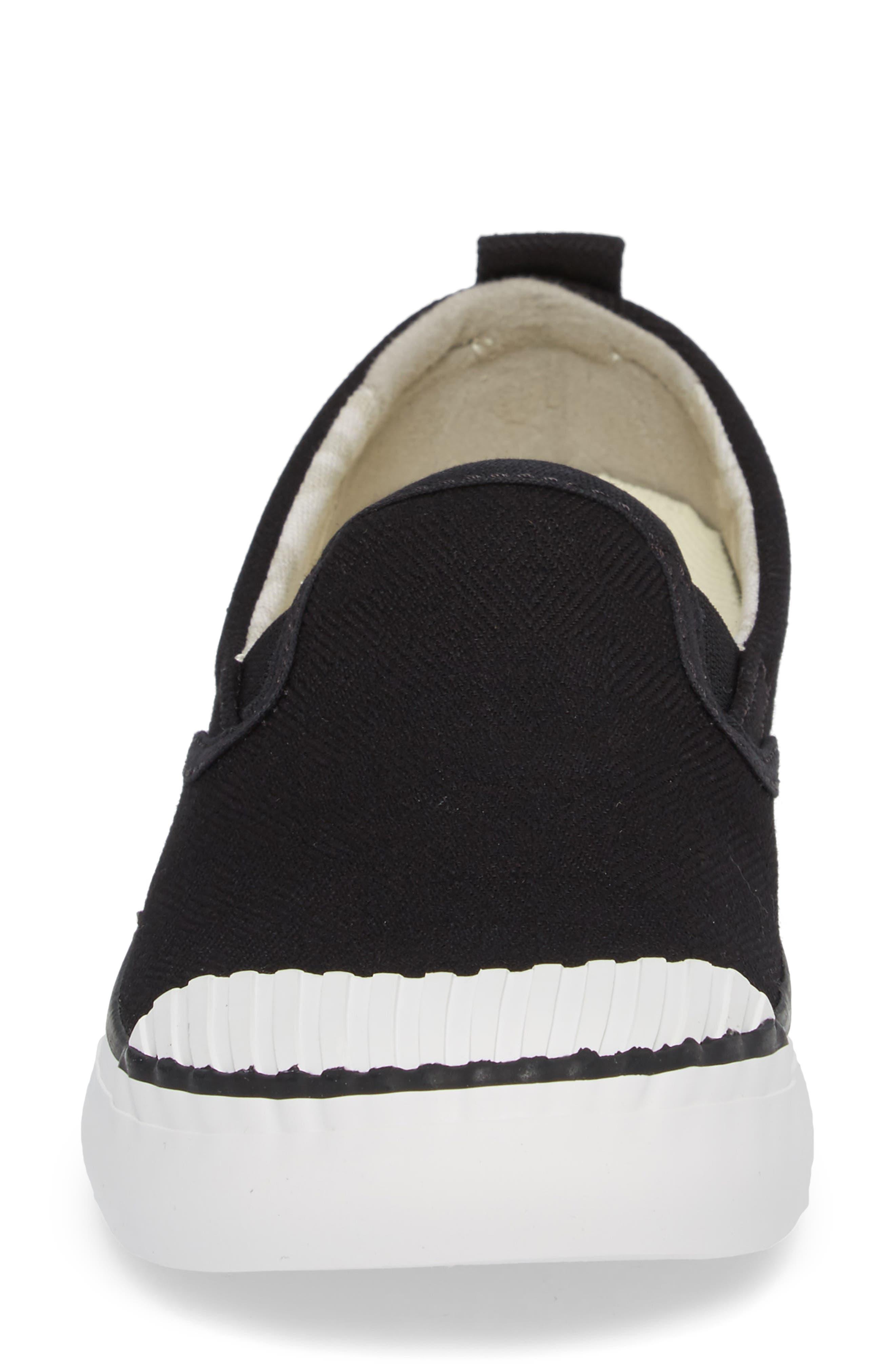 KEEN, Elsa Slip-On Sneaker, Alternate thumbnail 4, color, BLACK/ STAR WHITE