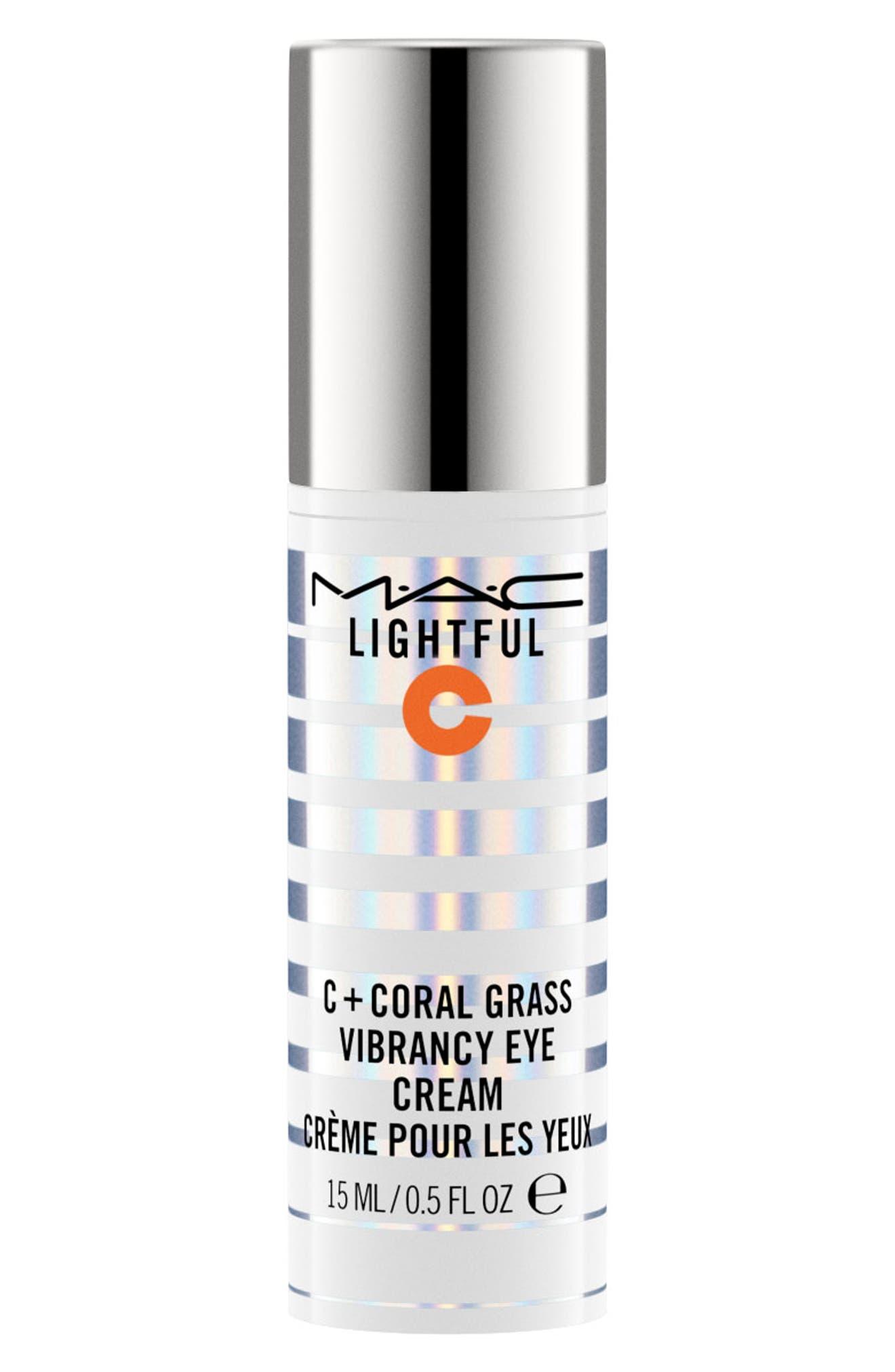 MAC COSMETICS, MAC Lightful C Coral Grass Eye Cream, Main thumbnail 1, color, NO COLOR