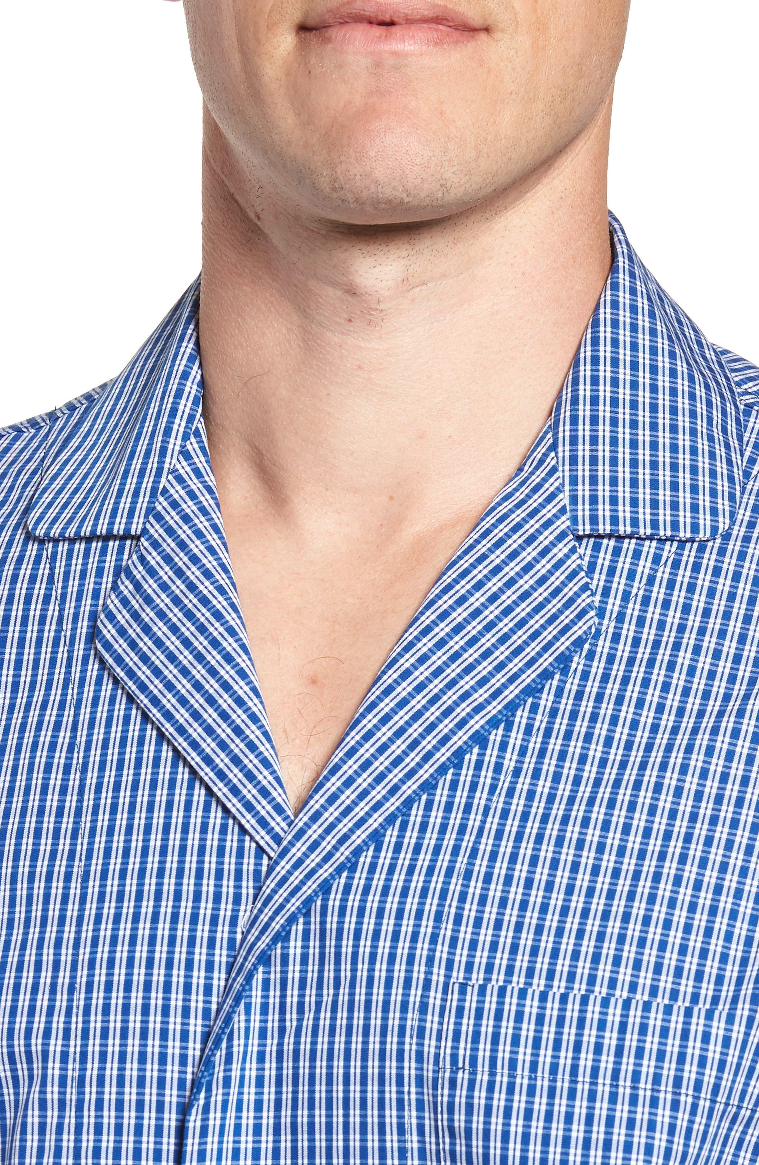 NORDSTROM MEN'S SHOP, Poplin Pajama Set, Alternate thumbnail 4, color, 404