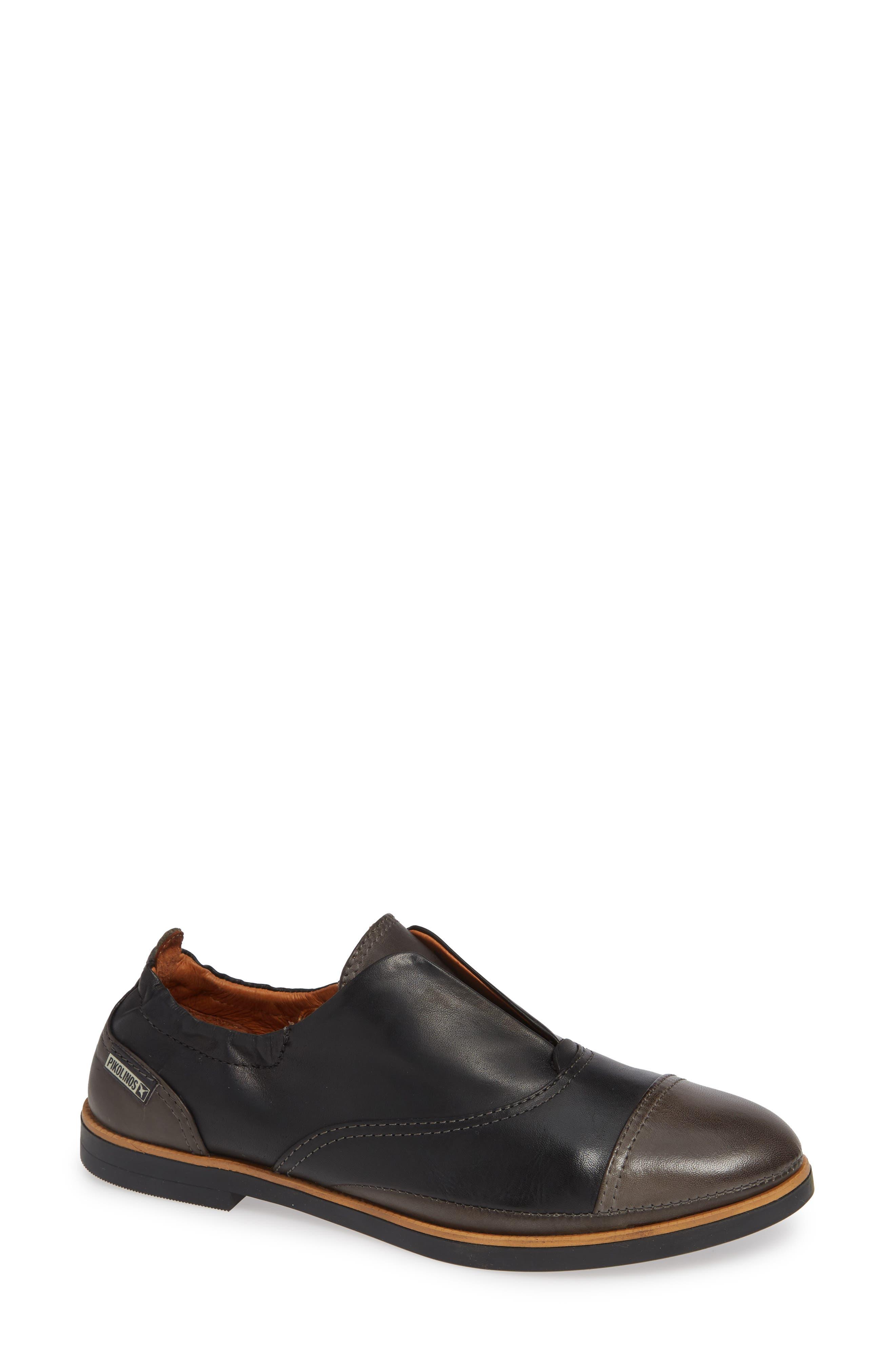 Pikolinos Santorini Colorblock Laceless Oxford, Black