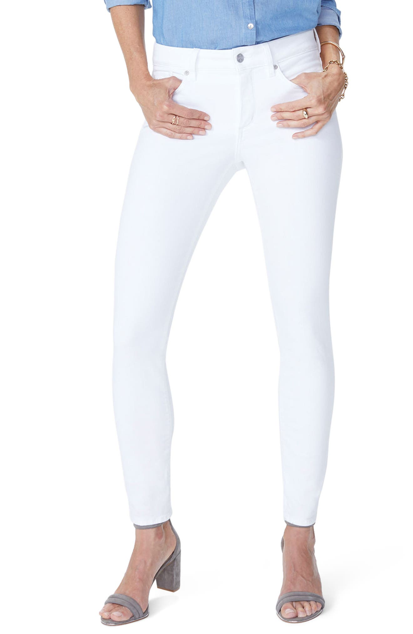 NYDJ Ami Ankle Skinny Jeans, Main, color, OPTIC WHITE