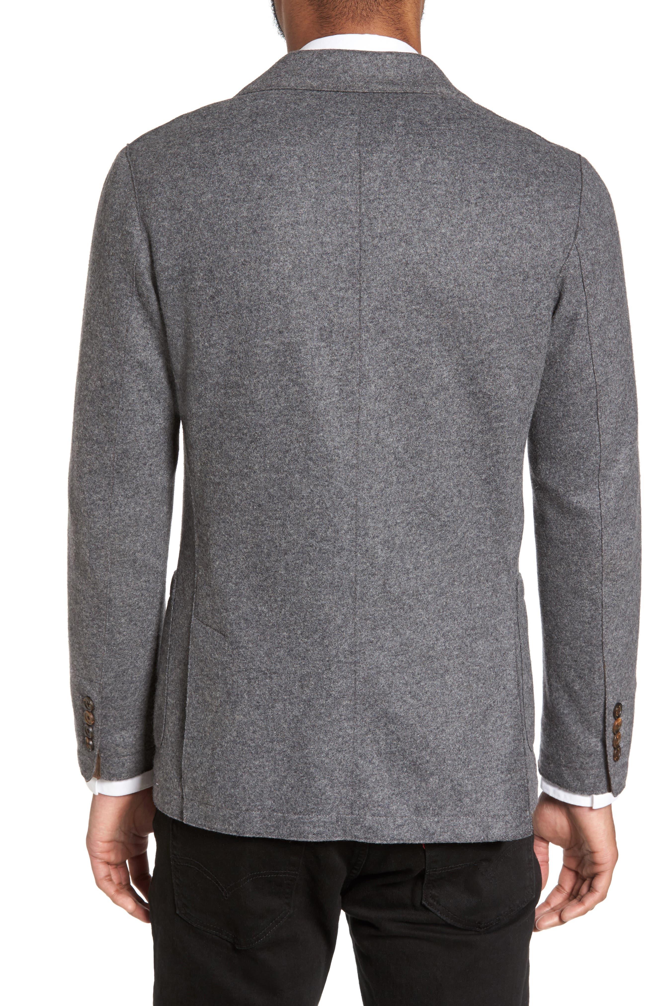 ELEVENTY, Wool Blend Sport Coat, Alternate thumbnail 2, color, SMOKE GREY MELANGE