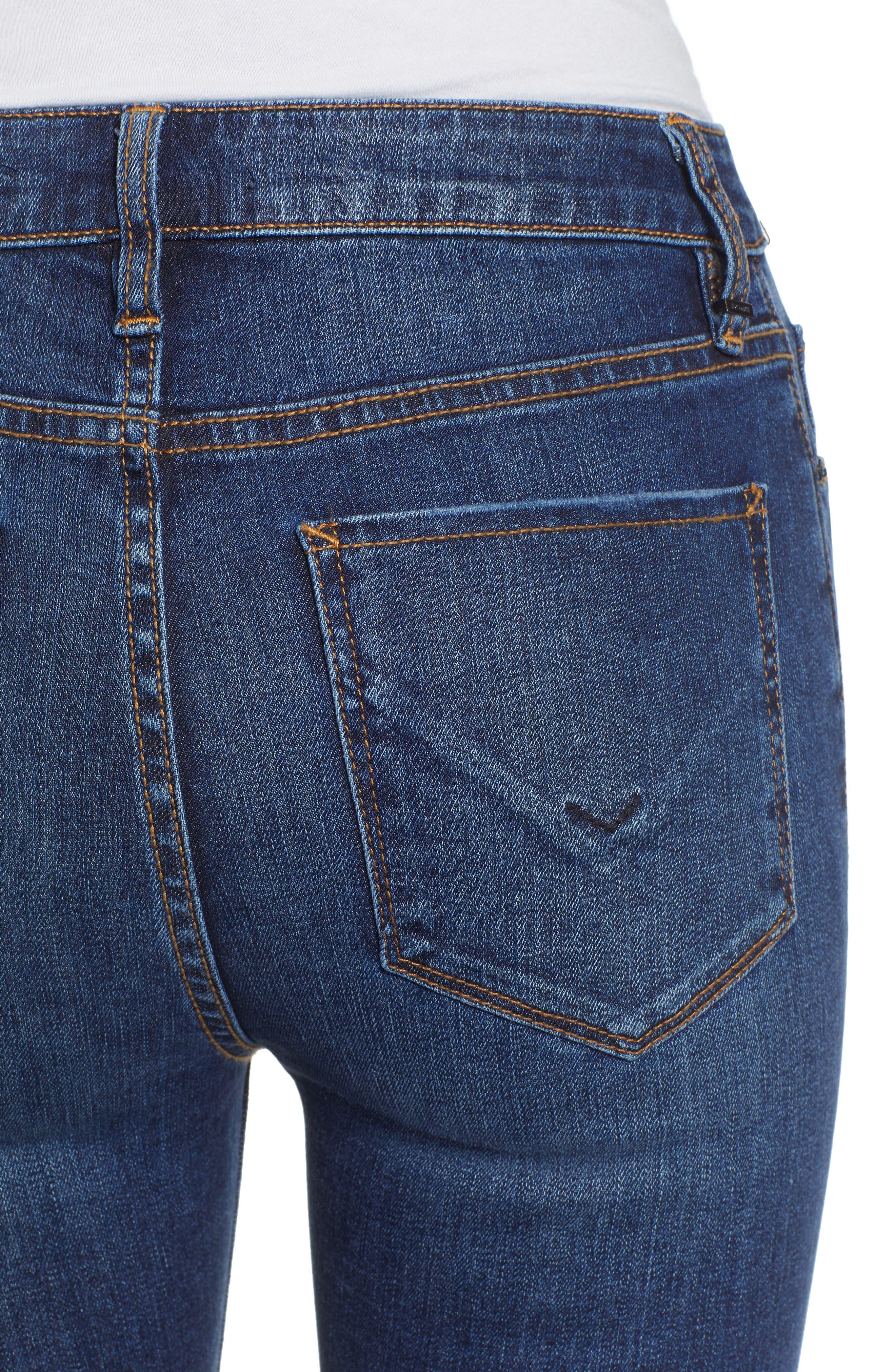 HUDSON JEANS, Holly High Waist Flare Jeans, Alternate thumbnail 5, color, VAGABOND