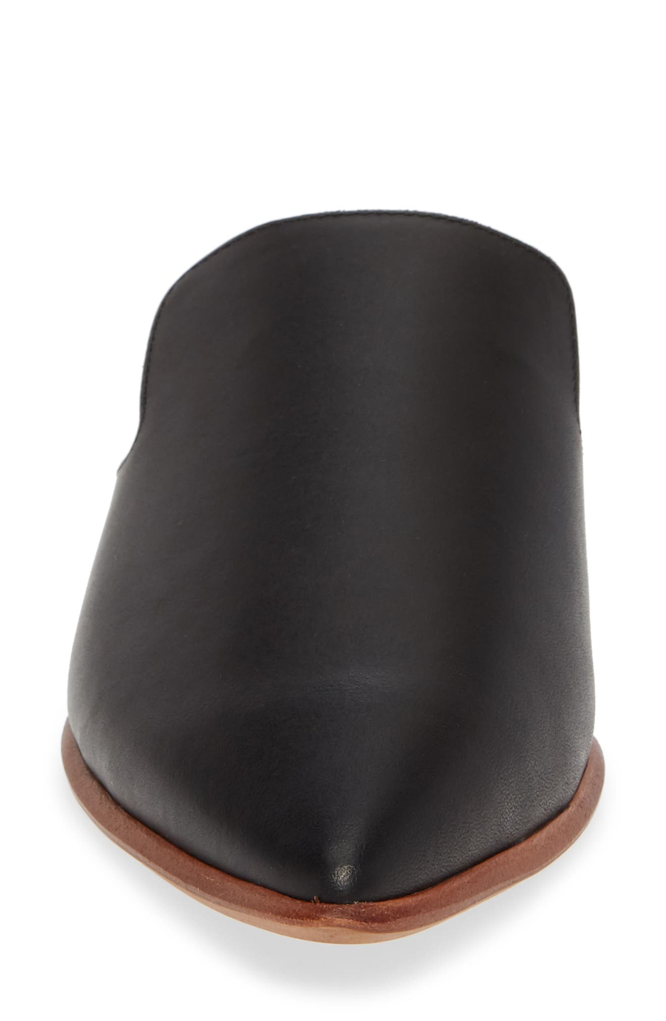 MADEWELL, The Gemma Mule, Alternate thumbnail 4, color, TRUE BLACK LEATHER