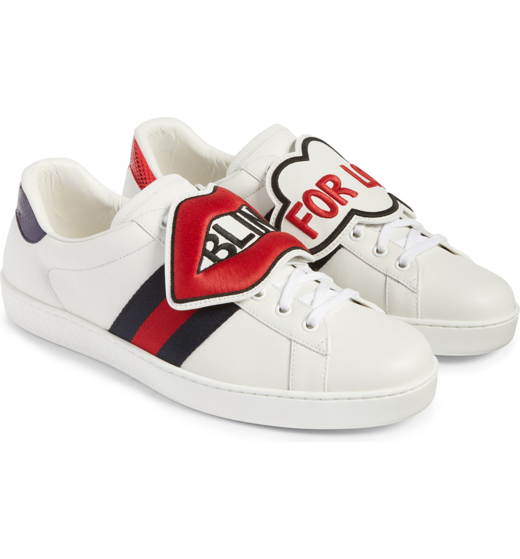 cd5ac8a1cf6 Gucci New Ace Embroidered Patch Sneaker (Men)