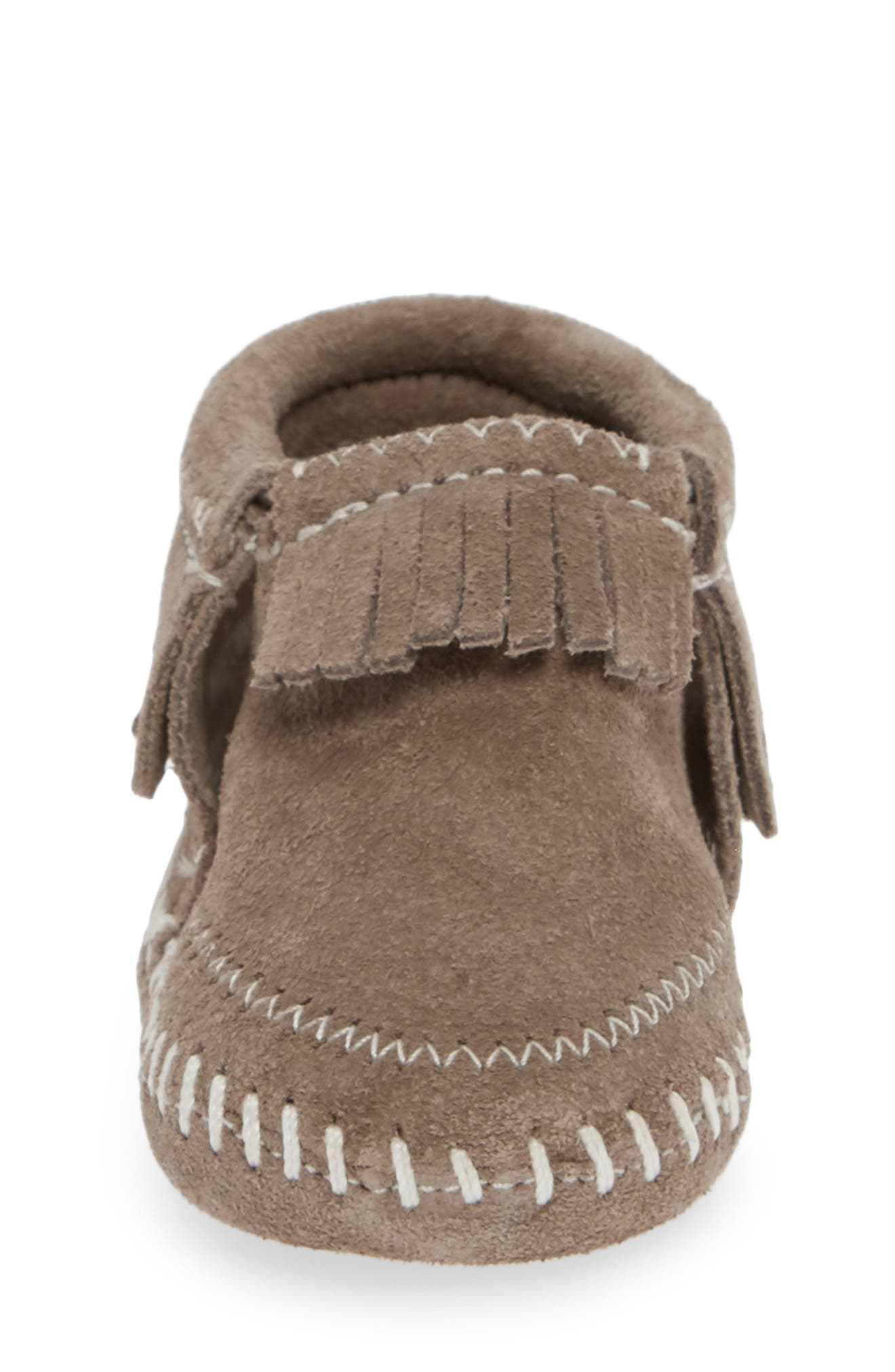 MINNETONKA, 'Riley' Bootie, Alternate thumbnail 4, color, GREY