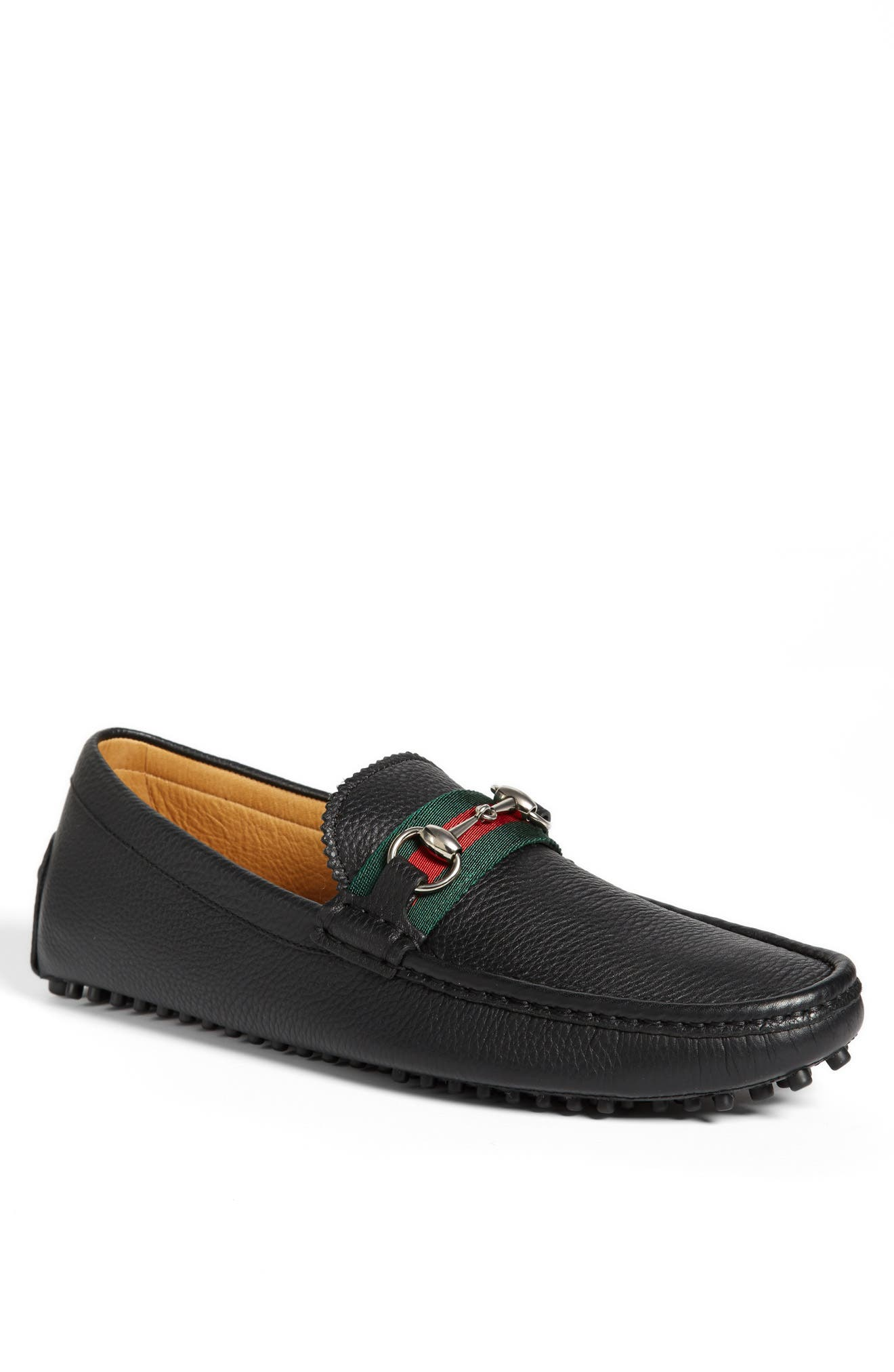 GUCCI, 'Damo' Driving Shoe, Main thumbnail 1, color, BLACK