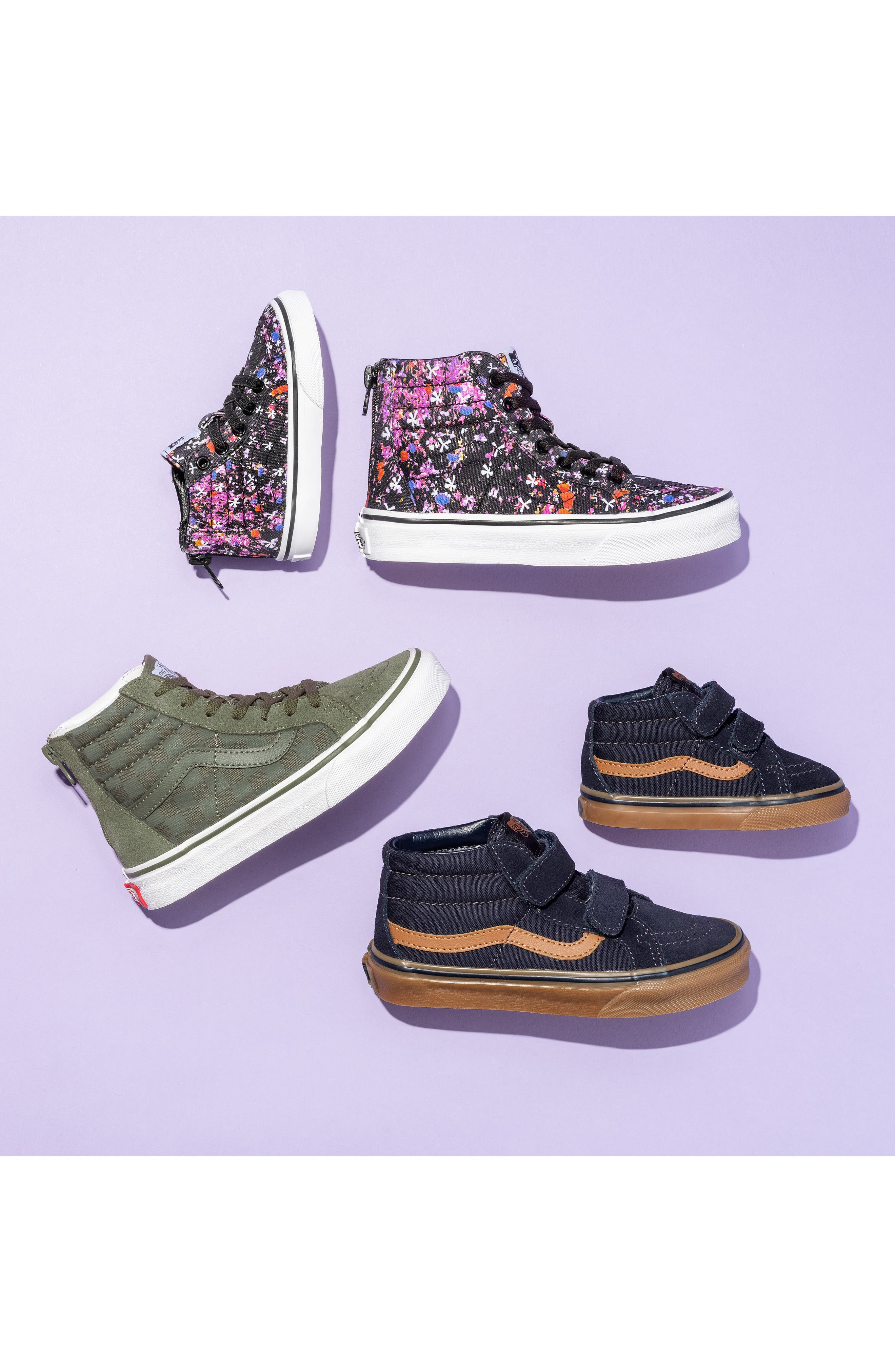 VANS, Sk8-Mid Reissue V Sneaker, Alternate thumbnail 7, color, LOGO POP BLACK/ TRUE WHITE