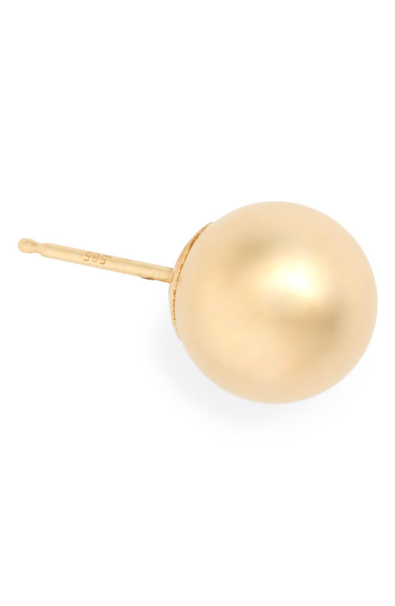 BONY LEVY, 14K Gold Ball Stud Earrings, Alternate thumbnail 6, color, YELLOW GOLD