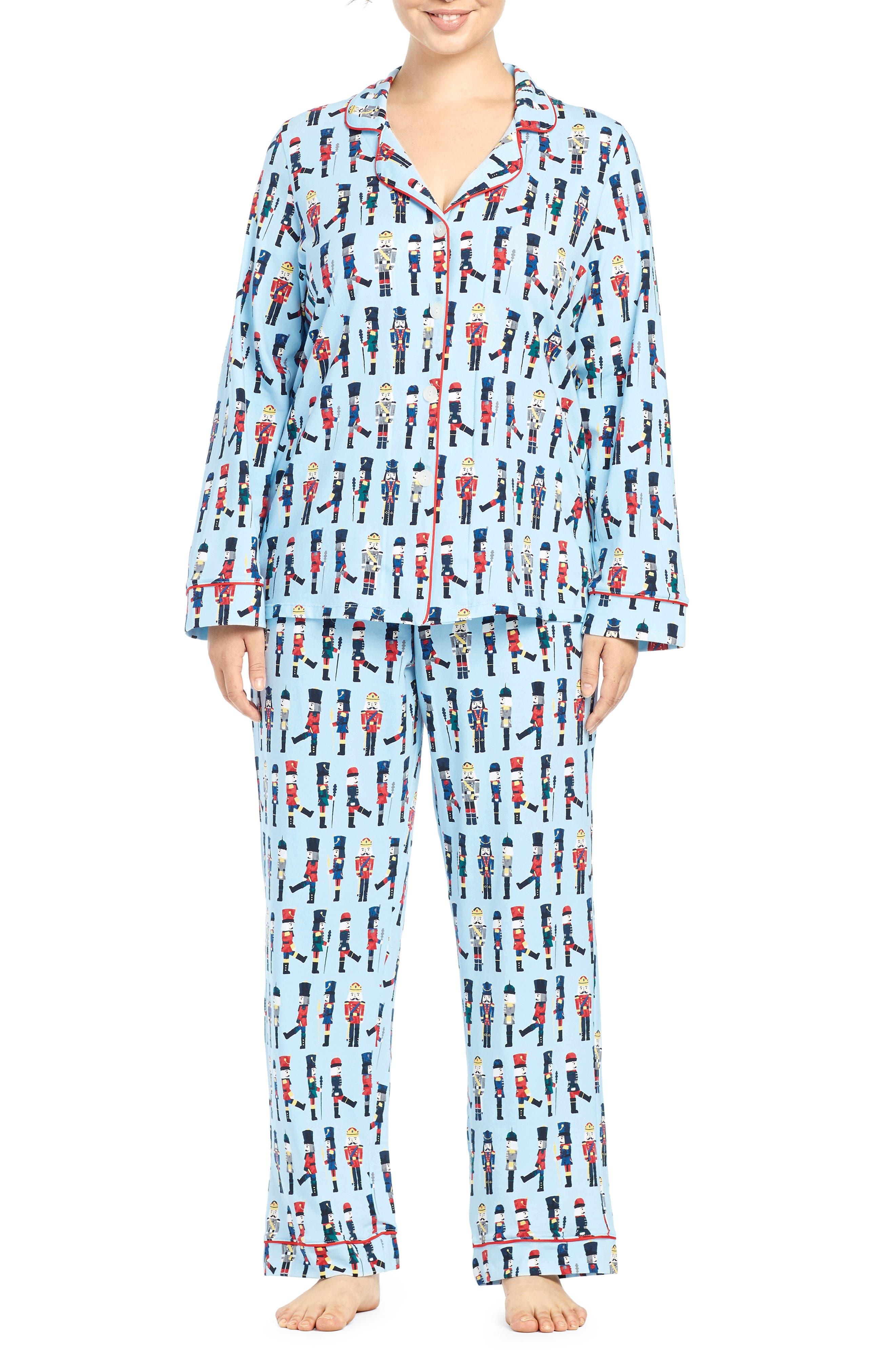 BEDHEAD, Classic Print Pajamas, Main thumbnail 1, color, MARCH ON