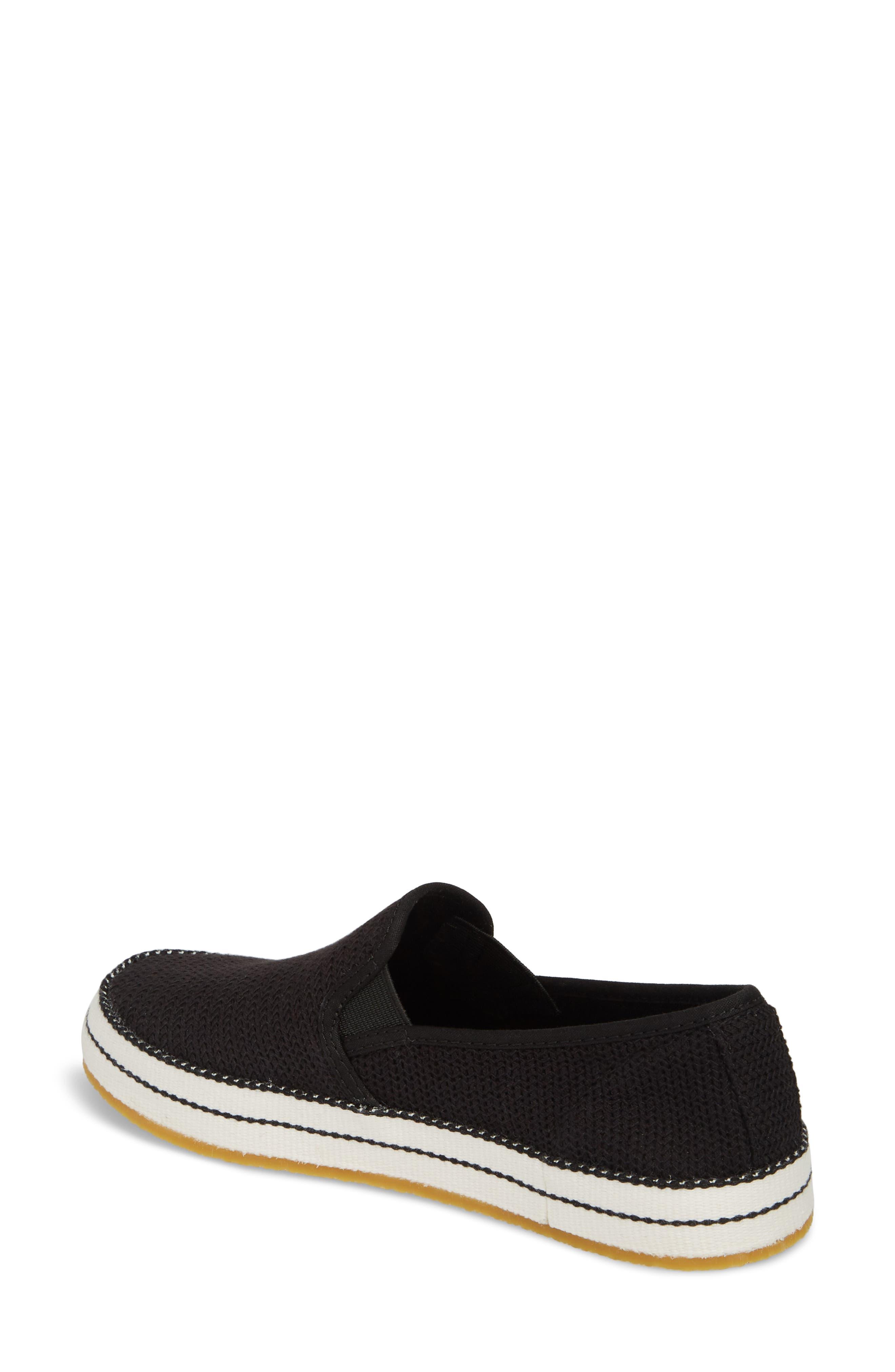 UGG<SUP>®</SUP>, Bren Slip-On Sneaker, Alternate thumbnail 2, color, BLACK