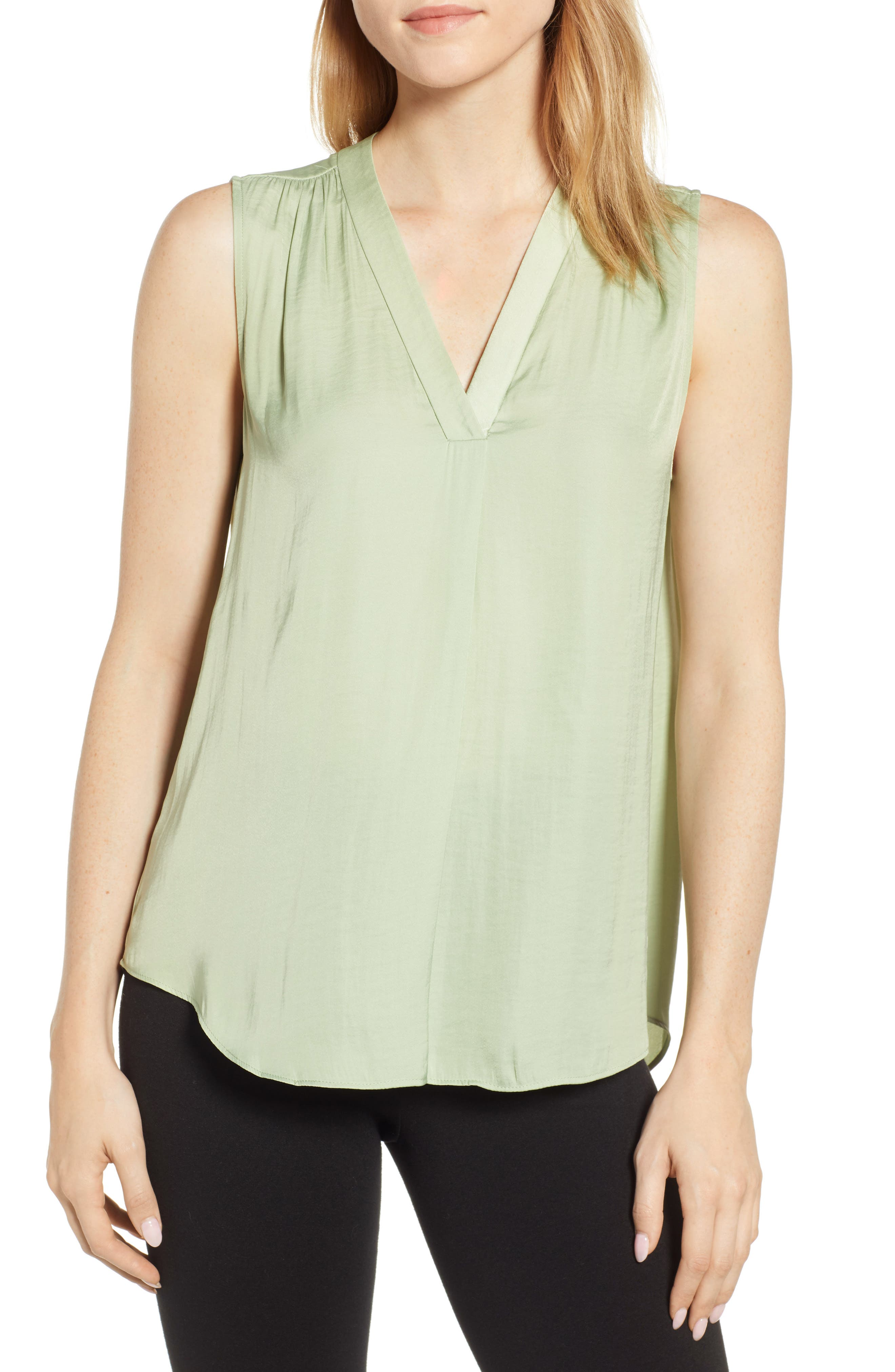 VINCE CAMUTO Sleeveless Rumple Blouse, Main, color, 366