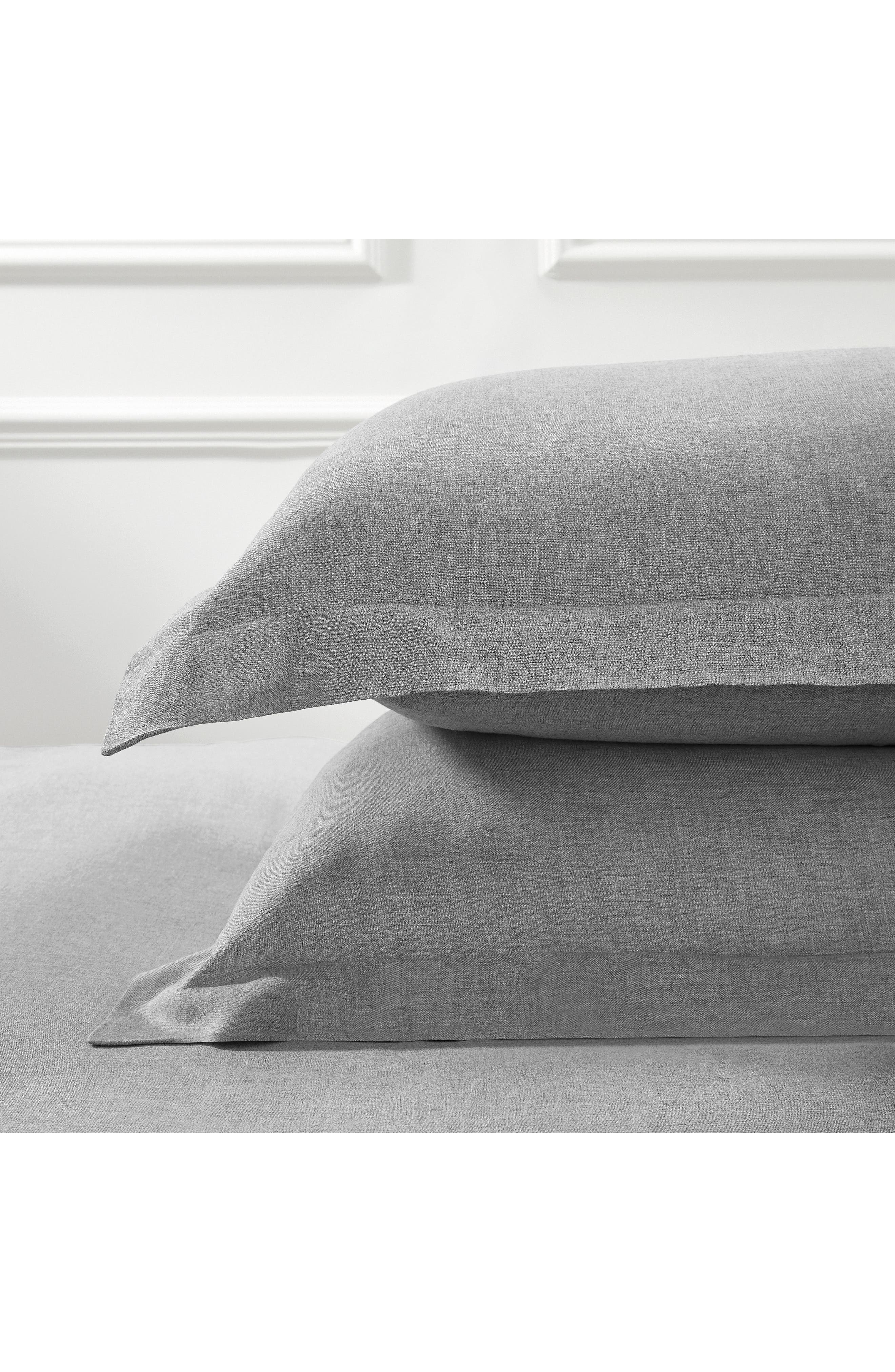 THE WHITE COMPANY, Evesham Pillow Sham, Main thumbnail 1, color, CHARCOAL GREY