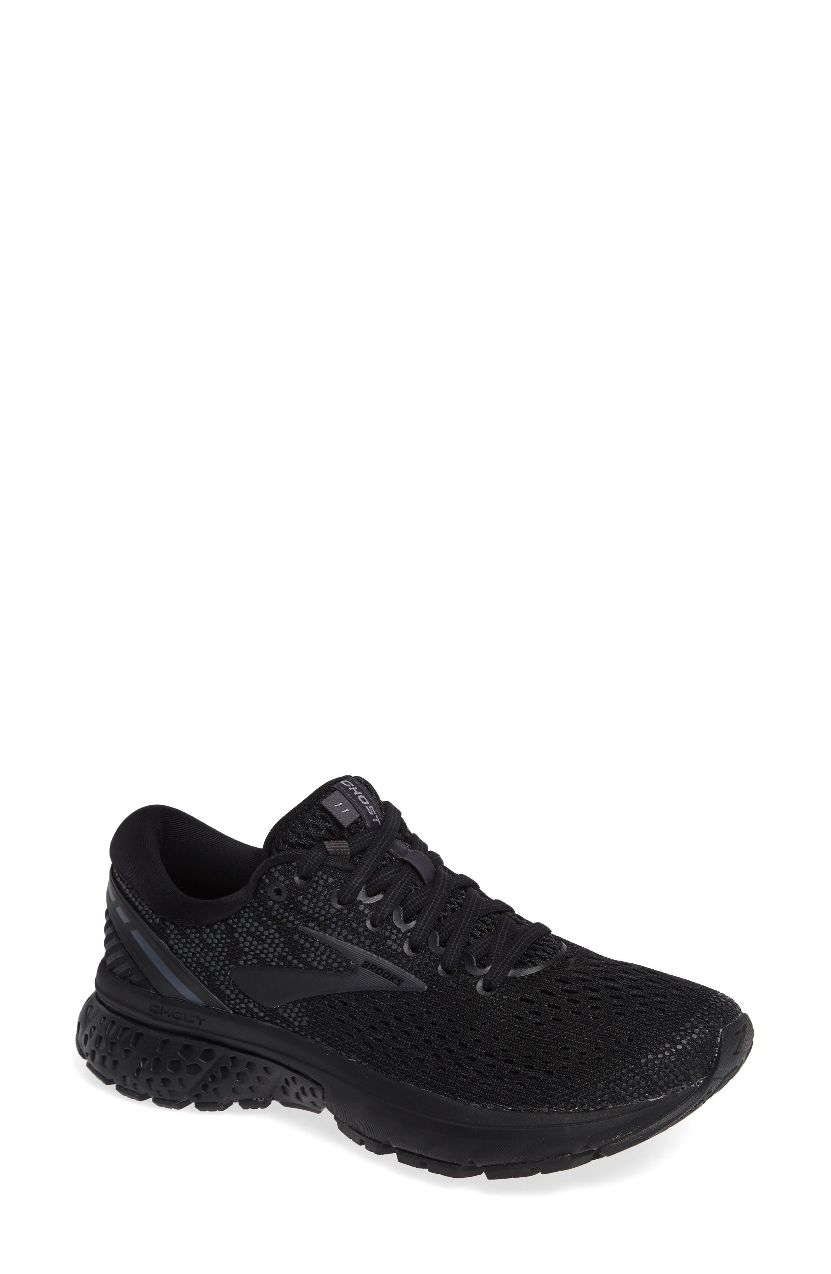 BROOKS Ghost 11 Running Shoe, Main, color, BLACK/ EBONY