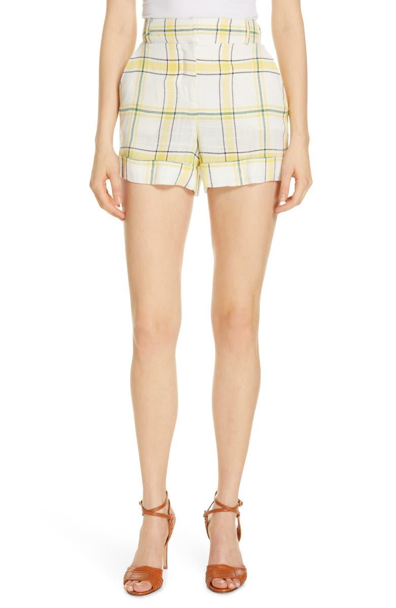 Veronica Beard Shorts CARITO PLAID SHORTS