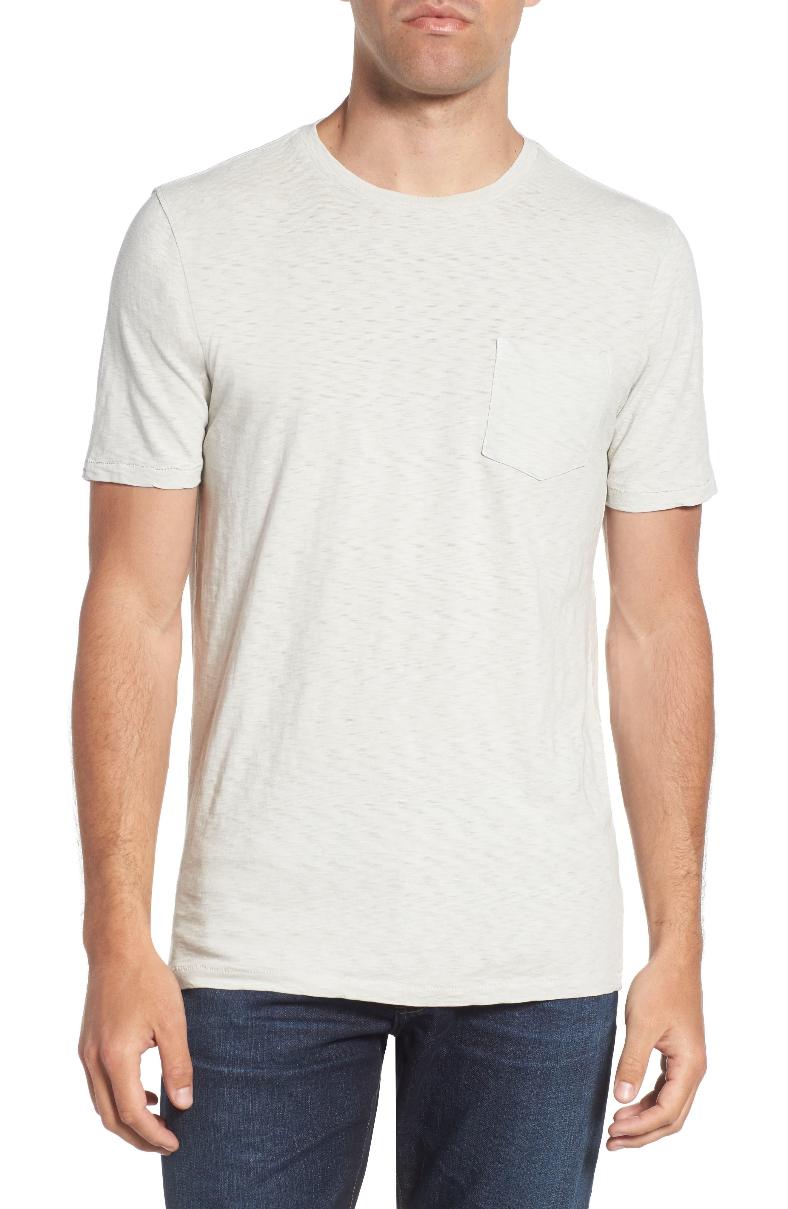 VINTAGE 1946, Negative Slub Knit T-Shirt, Main thumbnail 1, color, SMOKE
