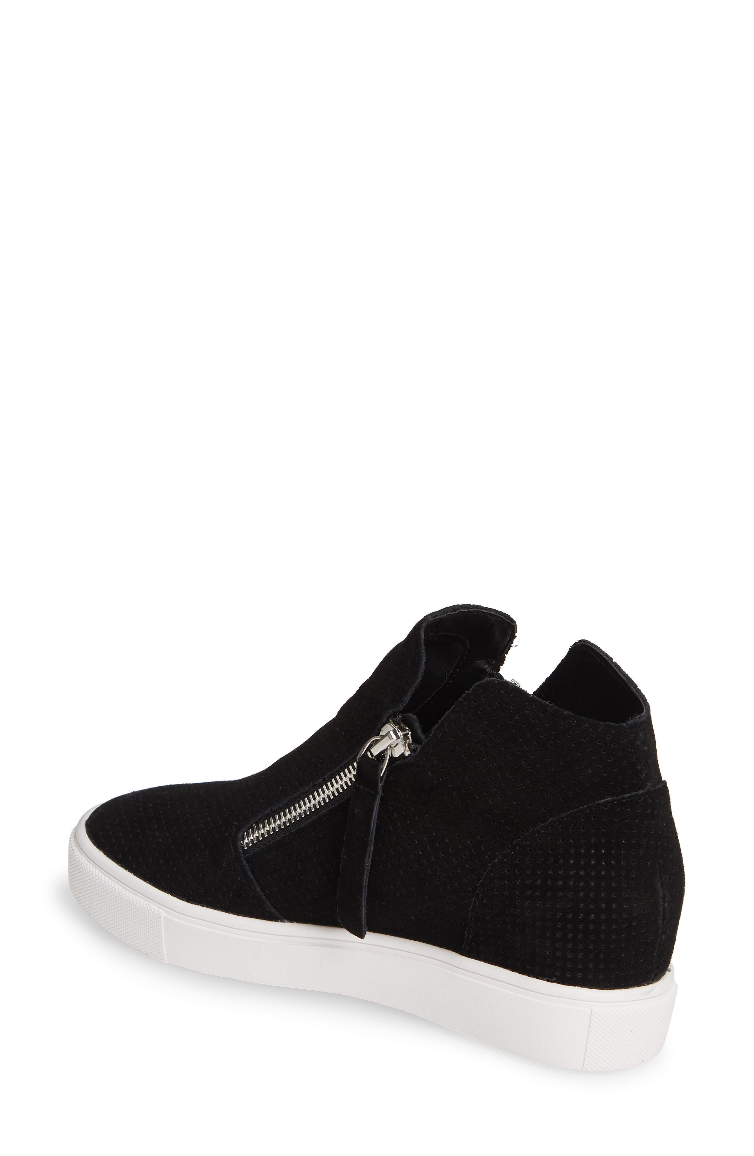 STEVE MADDEN, Caliber High Top Sneaker, Alternate thumbnail 2, color, BLACK SUEDE