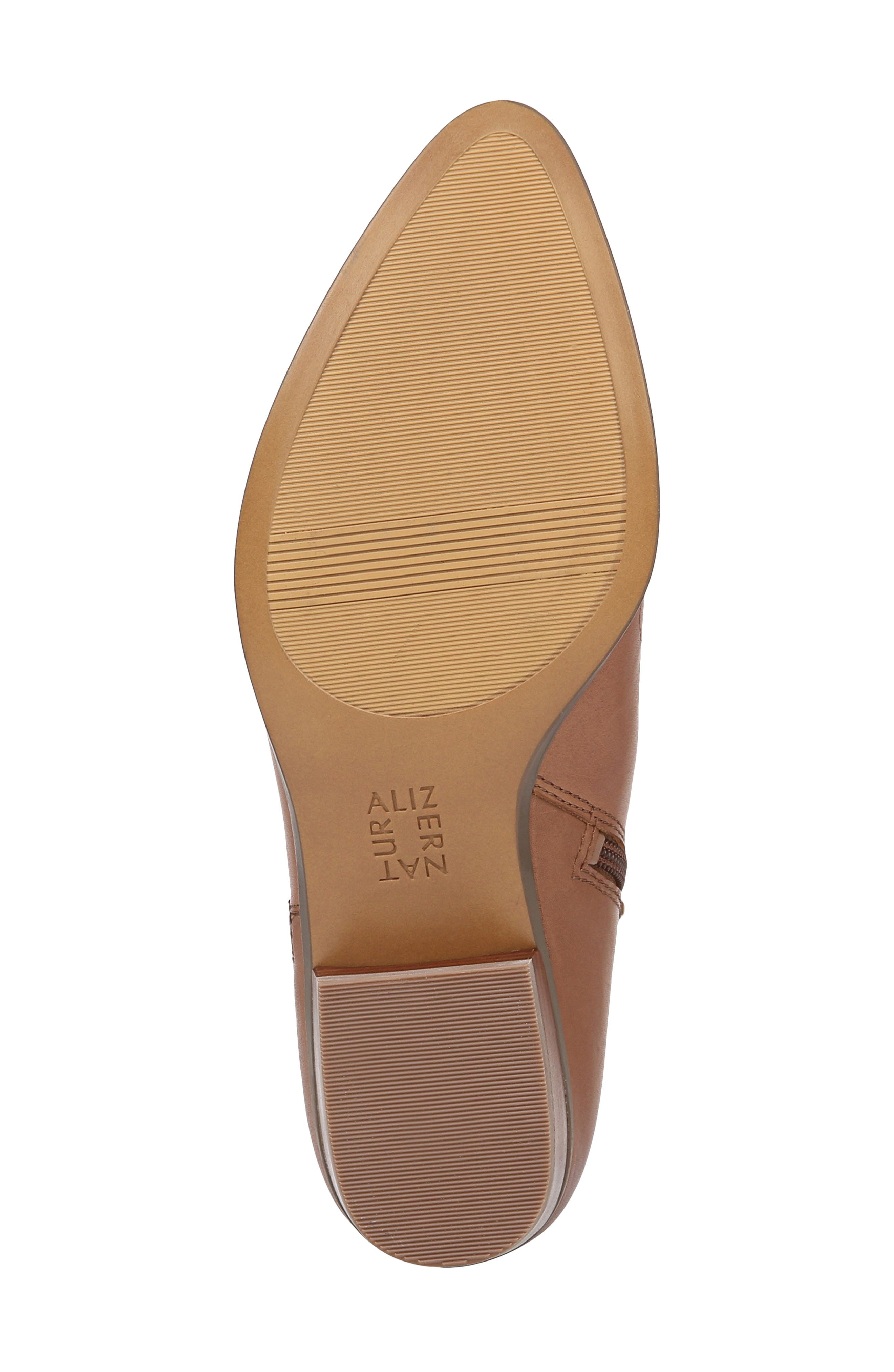 NATURALIZER, Blair Bootie, Alternate thumbnail 5, color, BANANA BREAD LEATHER