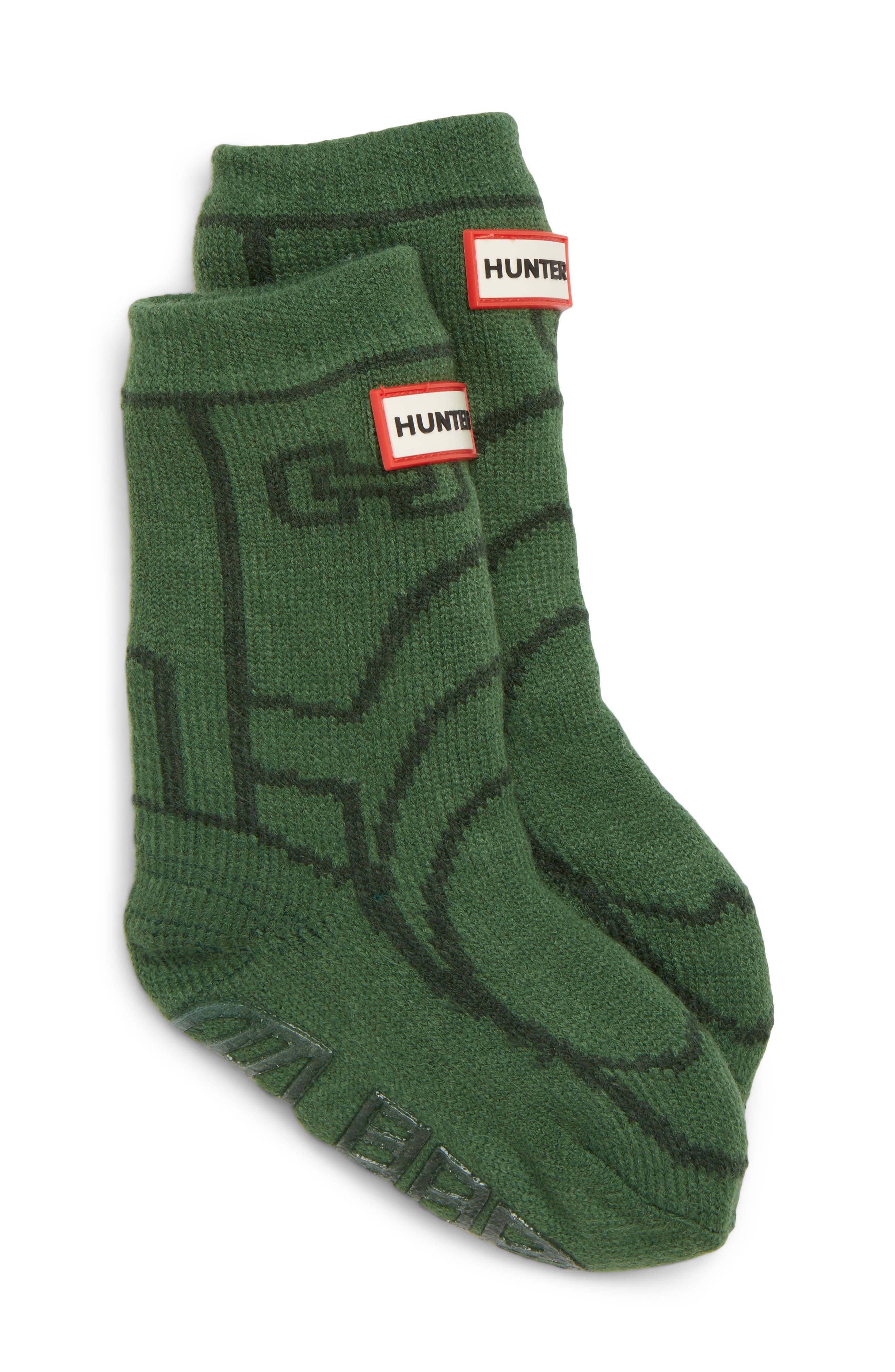Toddler Hunter Original Boot Slipper Socks Size Large  Green