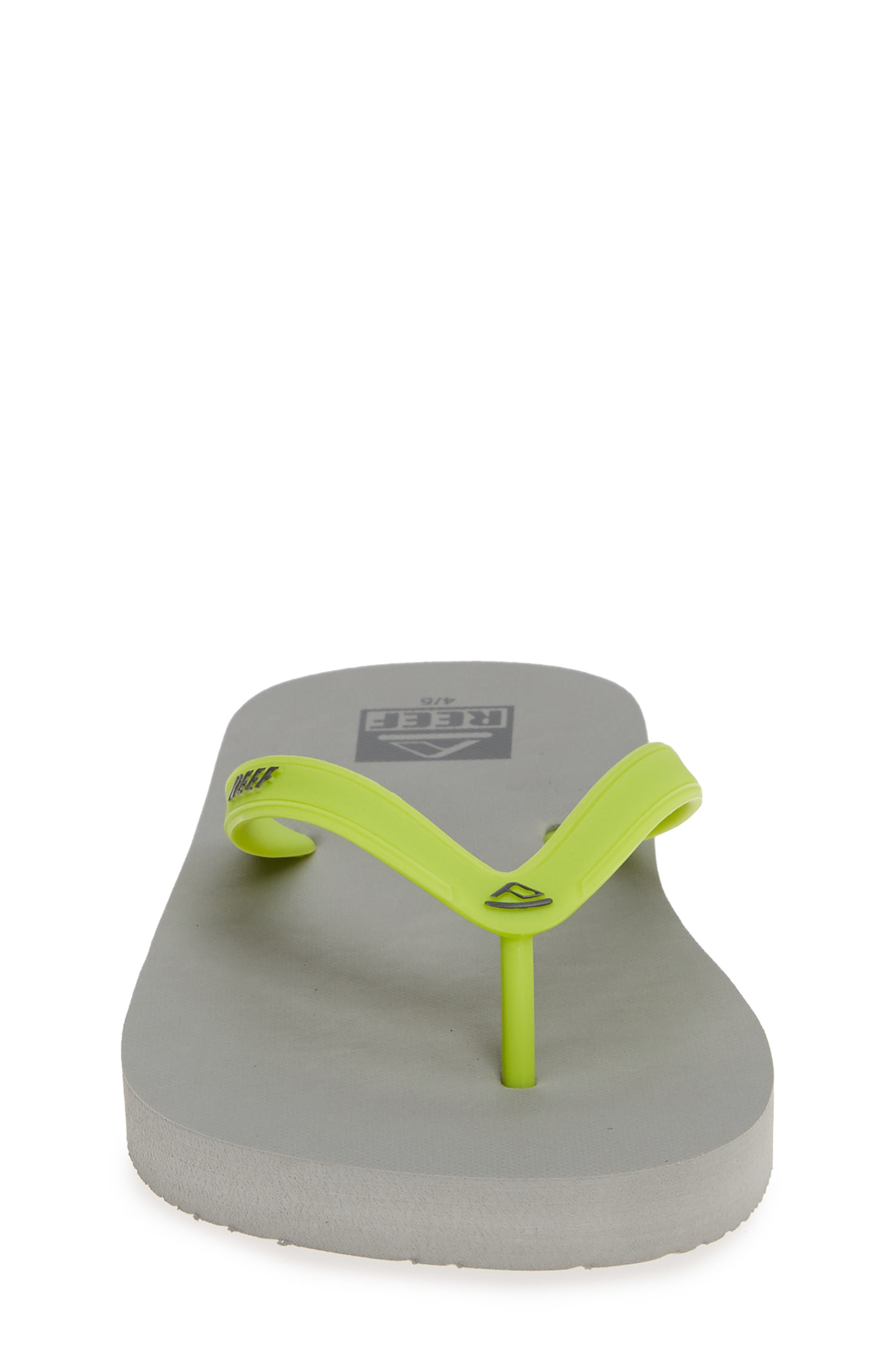 REEF, Switchfoot Flip Flop, Alternate thumbnail 4, color, GREY/ GREEN