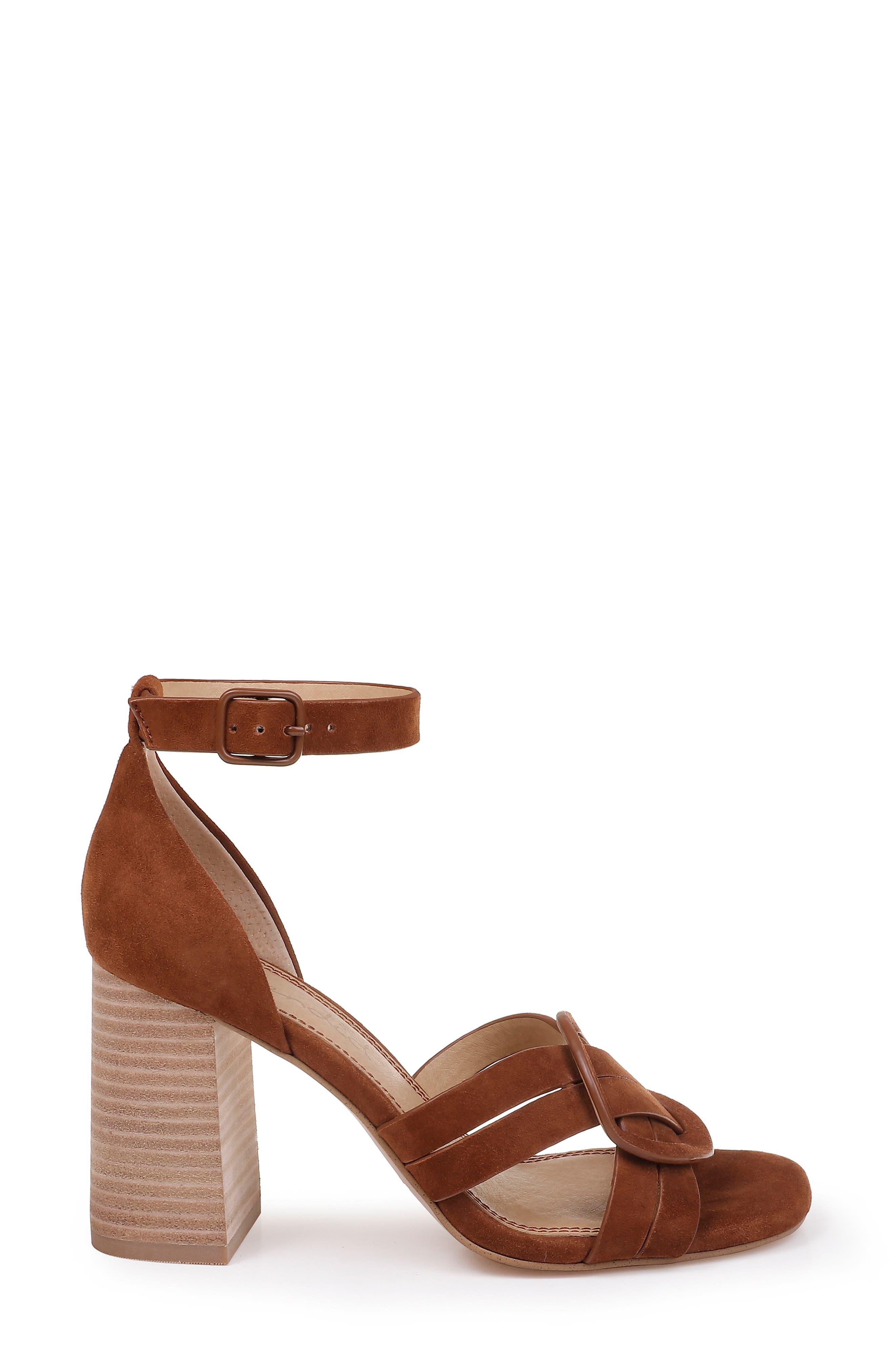 SPLENDID, Tallie Ankle Strap Sandal, Alternate thumbnail 3, color, CHESTNUT SUEDE
