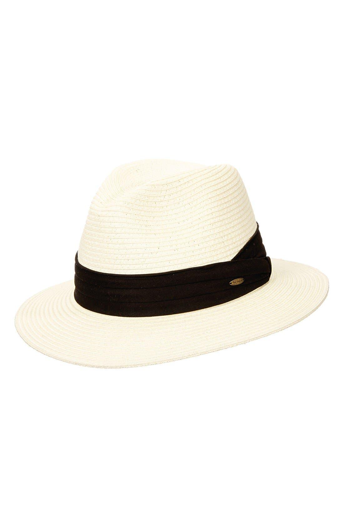 SCALA, Safari Hat, Main thumbnail 1, color, IVORY