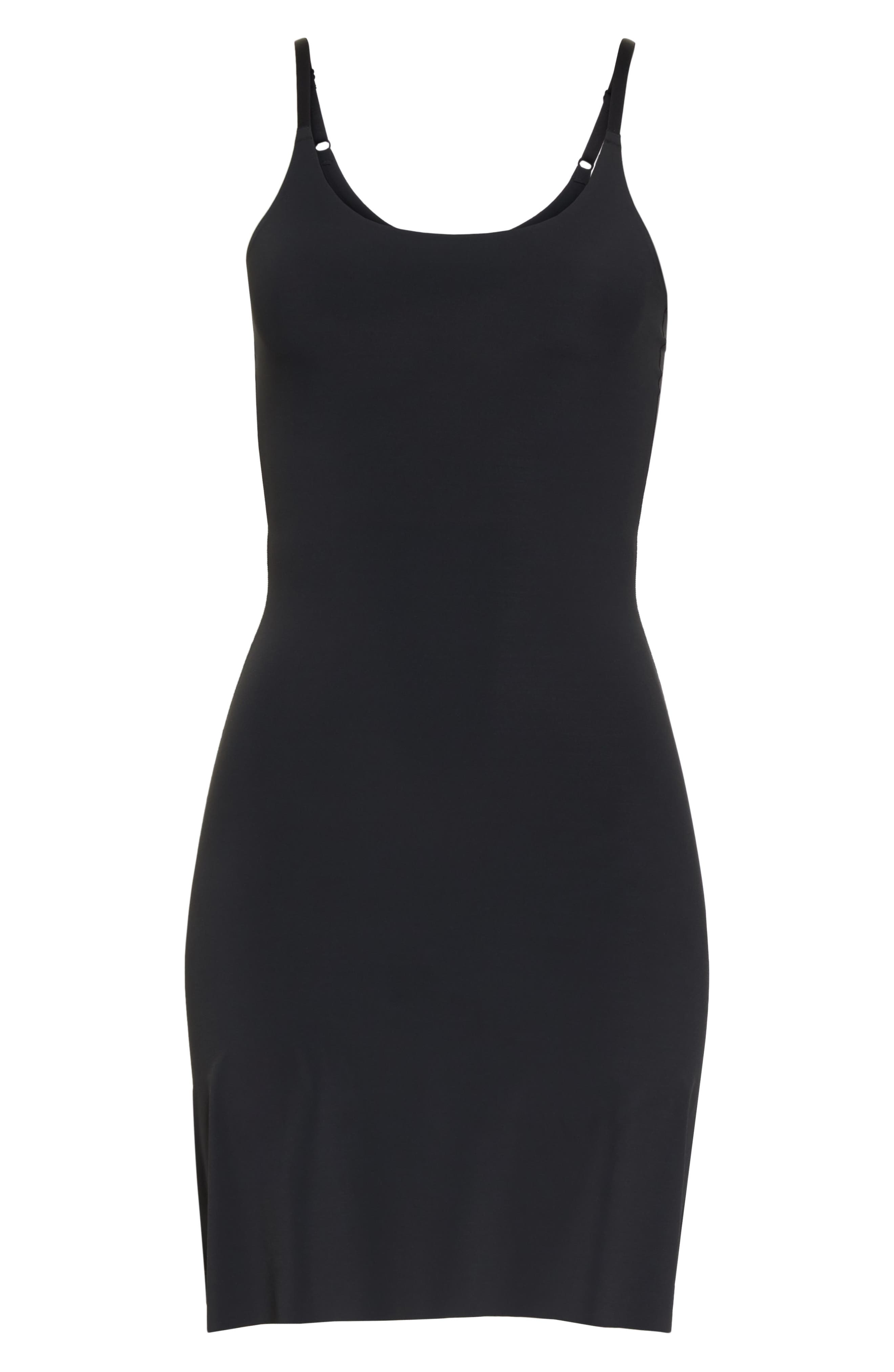 YUMMIE, Smooth Solutions A-Line Slip, Alternate thumbnail 6, color, BLACK
